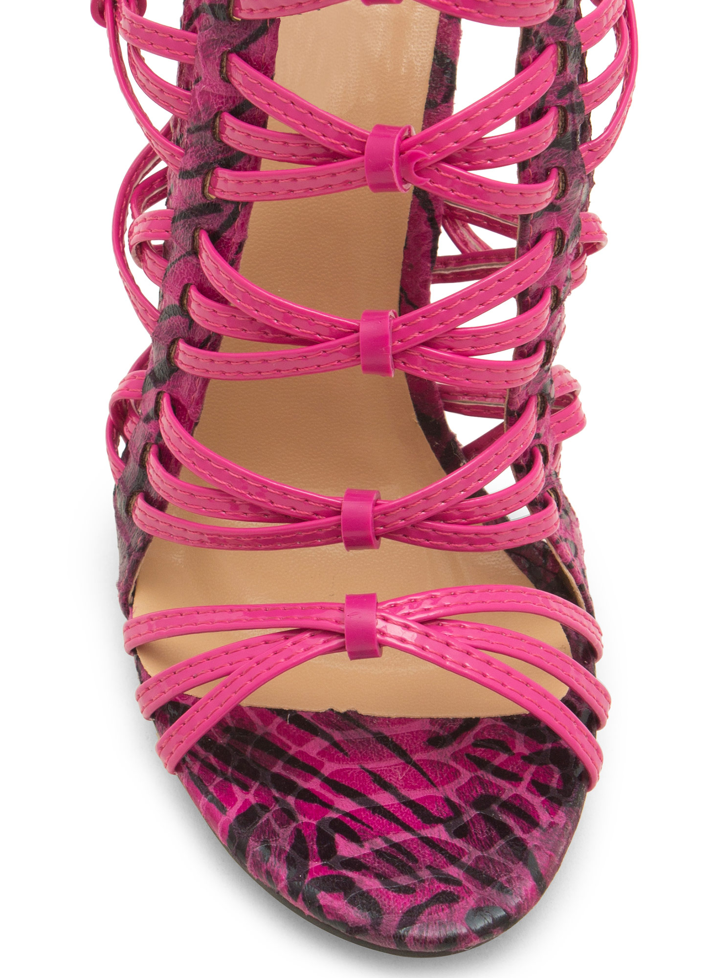 Wild Thing Crisscrossed Heels FUCHMULTI