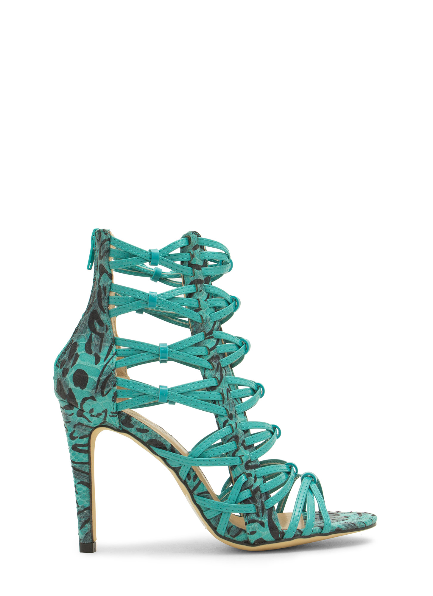 Wild Thing Crisscrossed Heels SEAGREENMLT