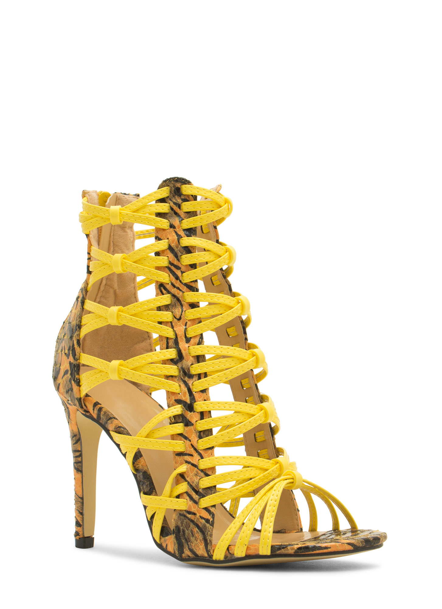 Wild Thing Crisscrossed Heels YELLOWMULTI