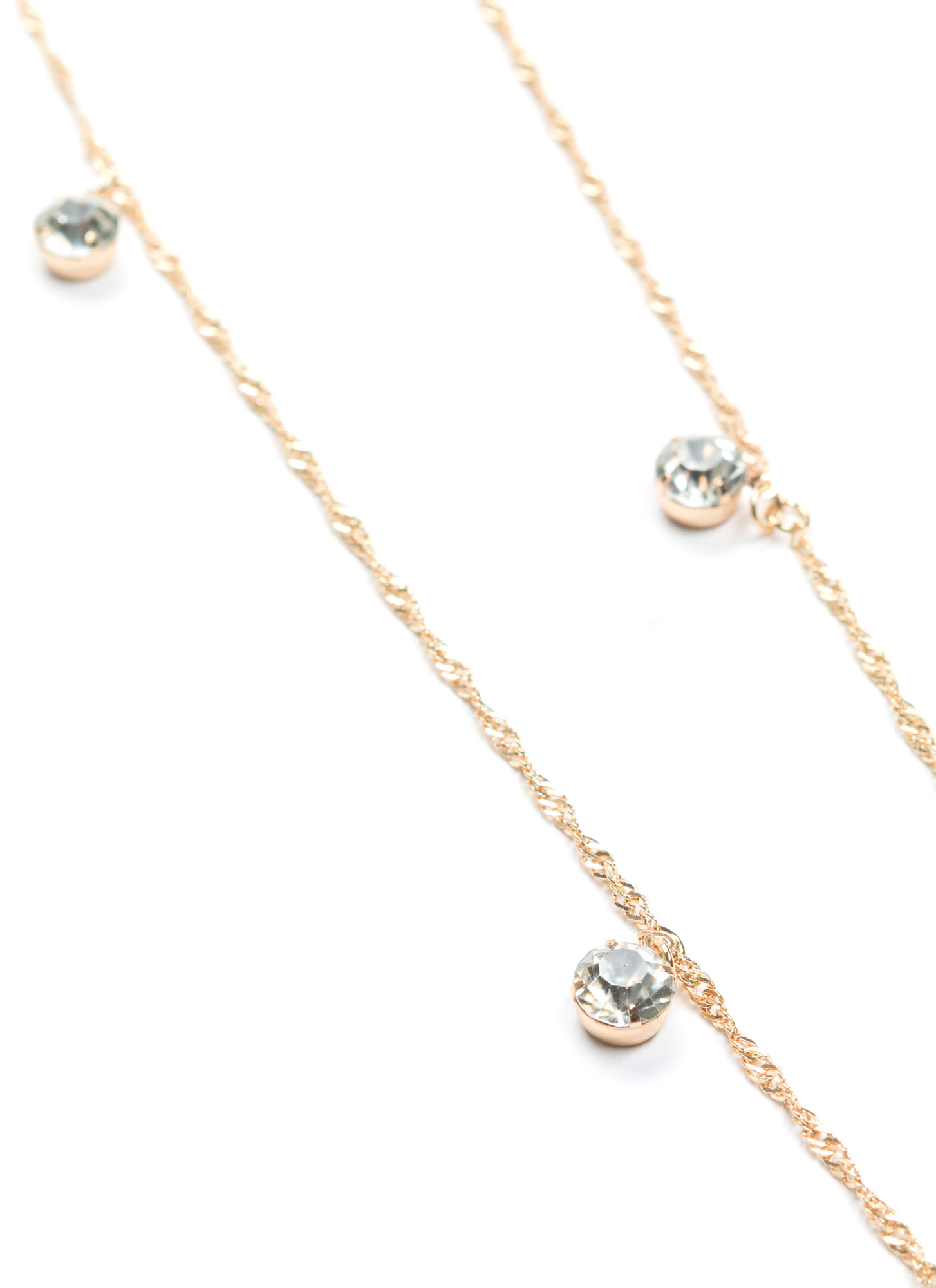 Multiuse Faux Jewel Embellished Chain GOLD