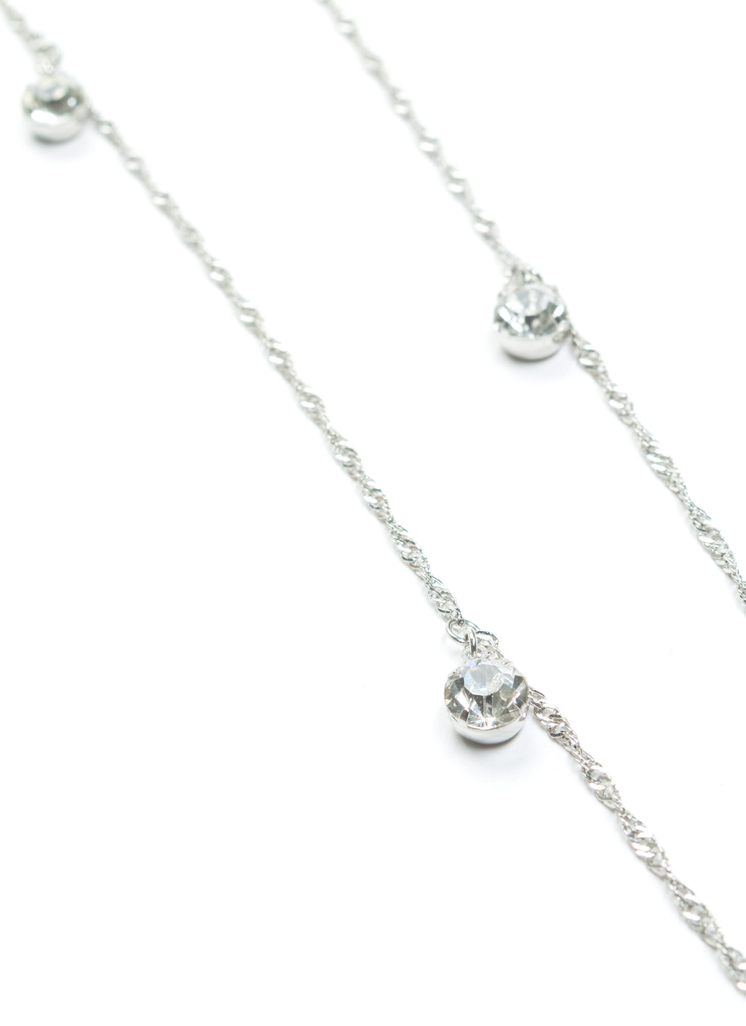 Multiuse Faux Jewel Embellished Chain SILVER