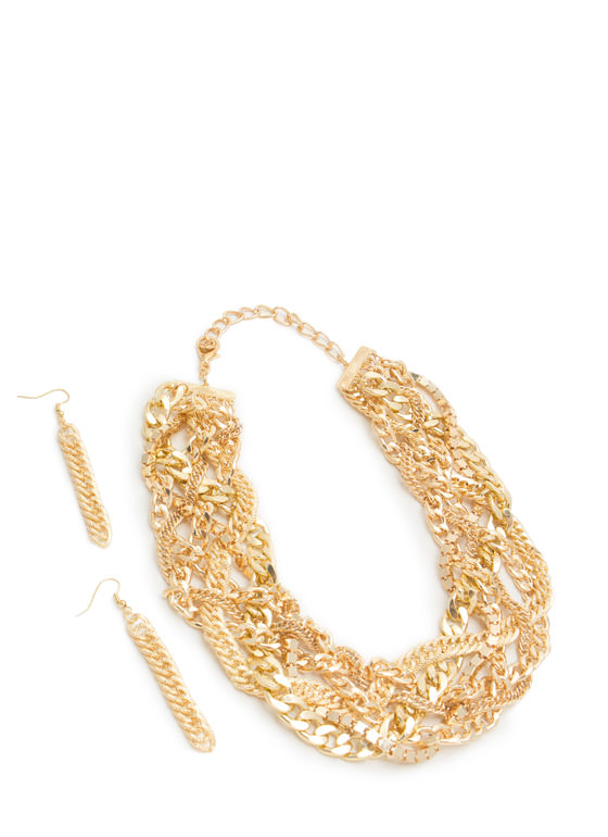Better Together Chain Necklace Set GOLD