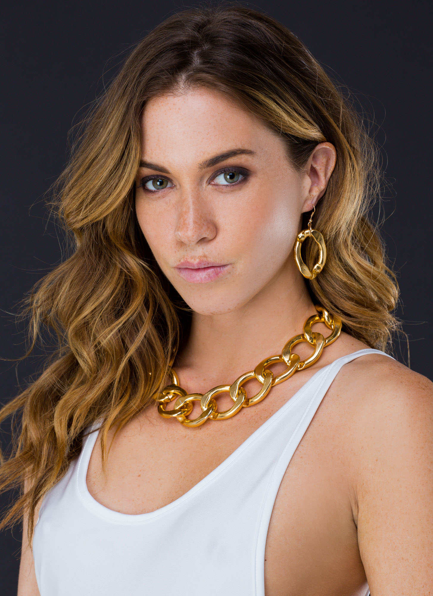 Chunky Chain Link Necklace Set GOLD