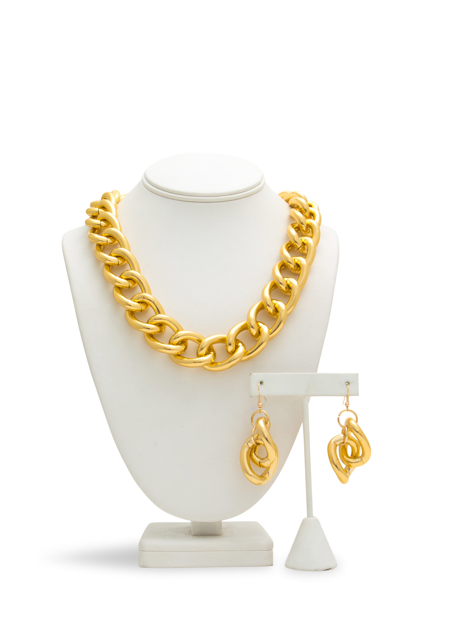 Ain't No Thang Chain Necklace Set GOLD
