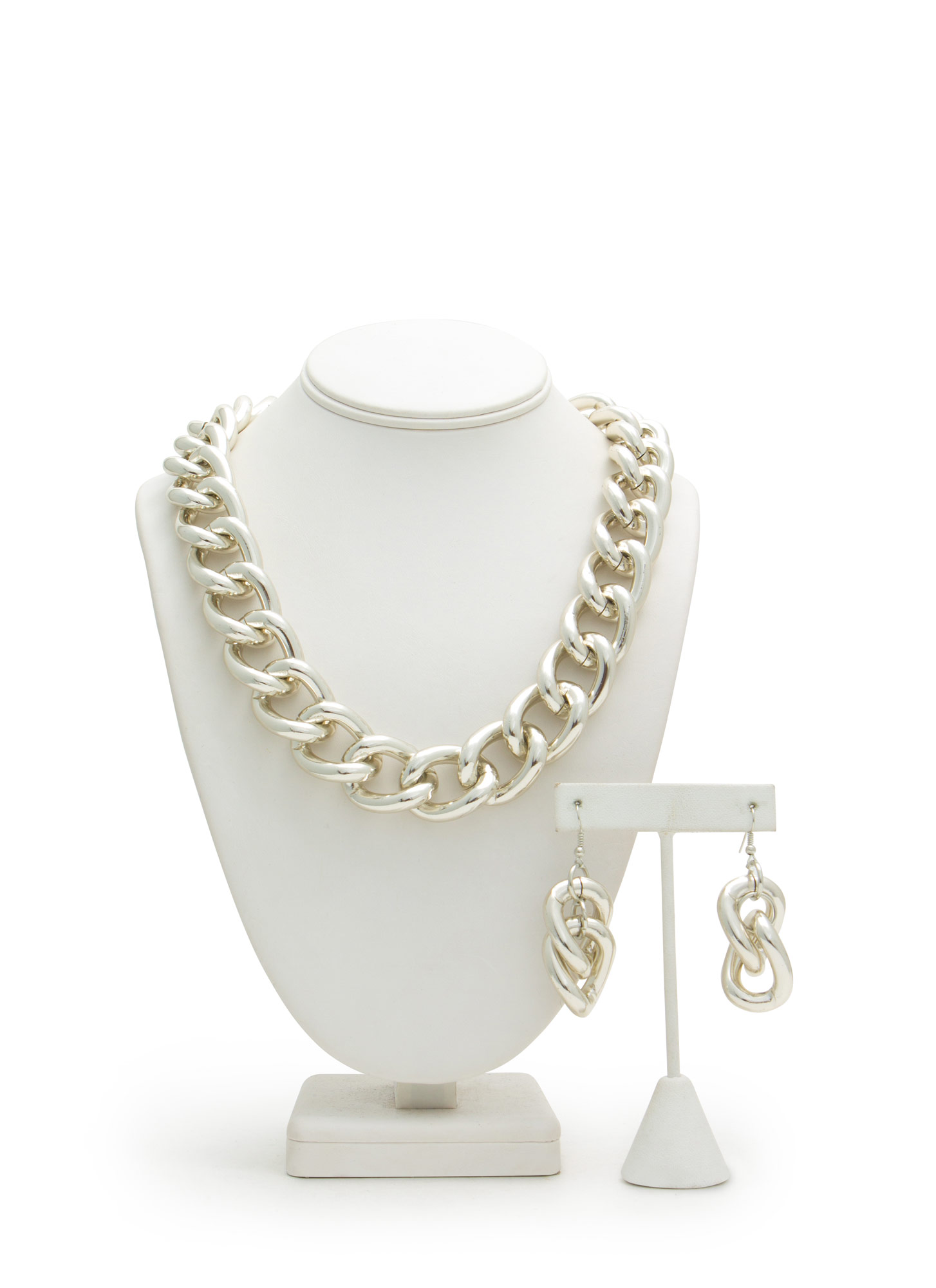Ain't No Thang Chain Necklace Set SILVER