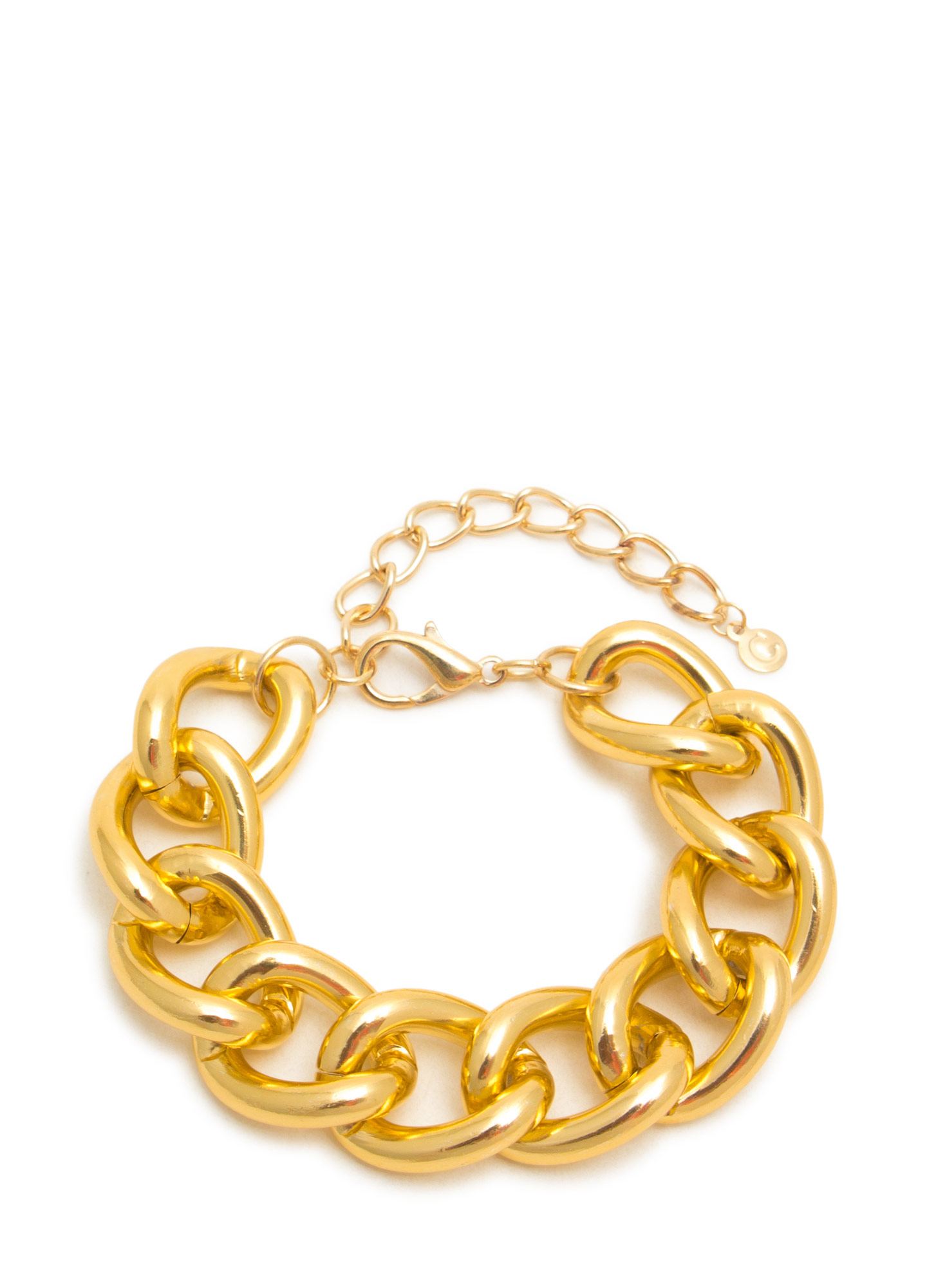 Oversized Chain Link Bracelet GOLD