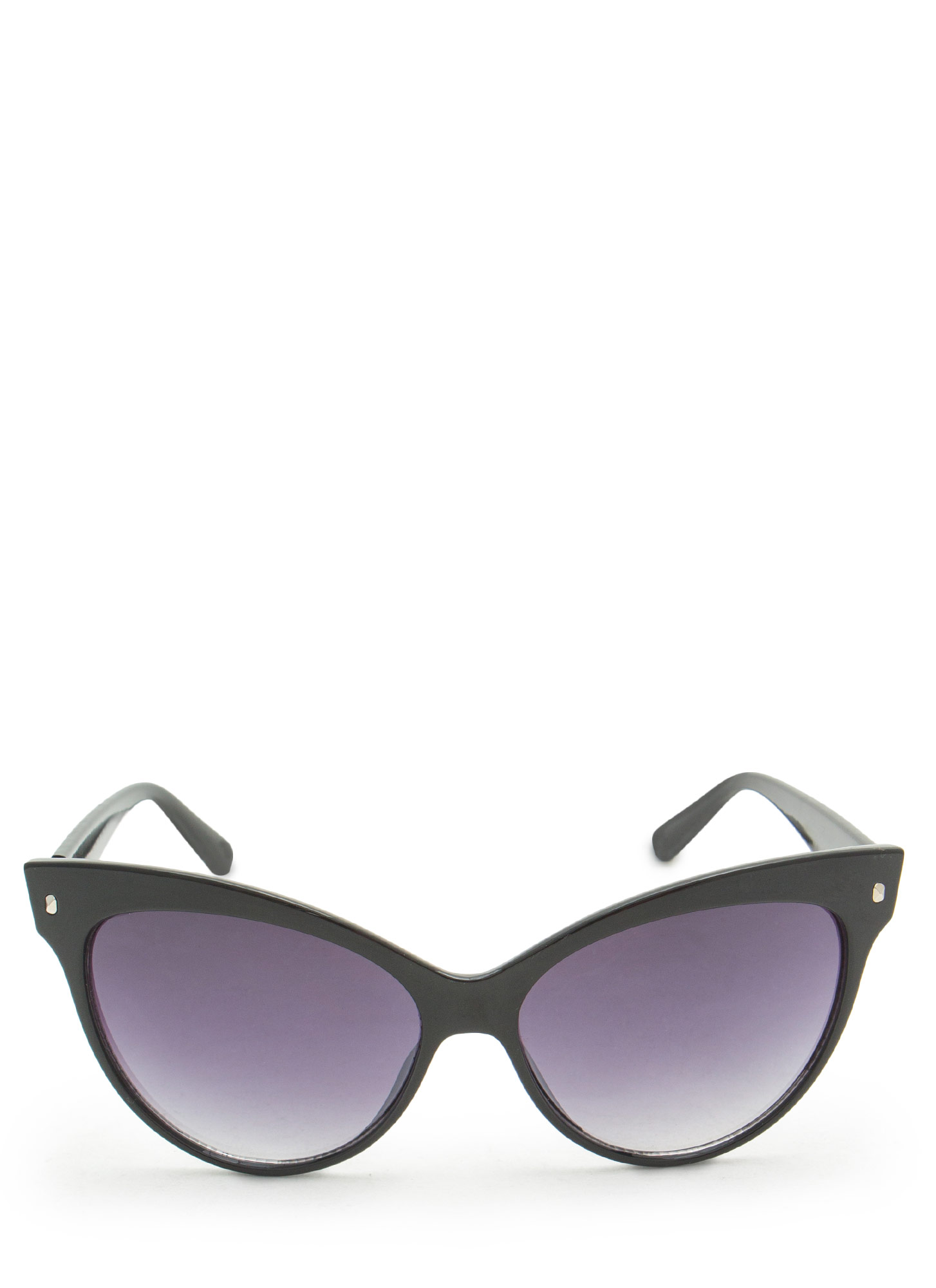 Retro Chic Cat Eye Sunglasses BLACK