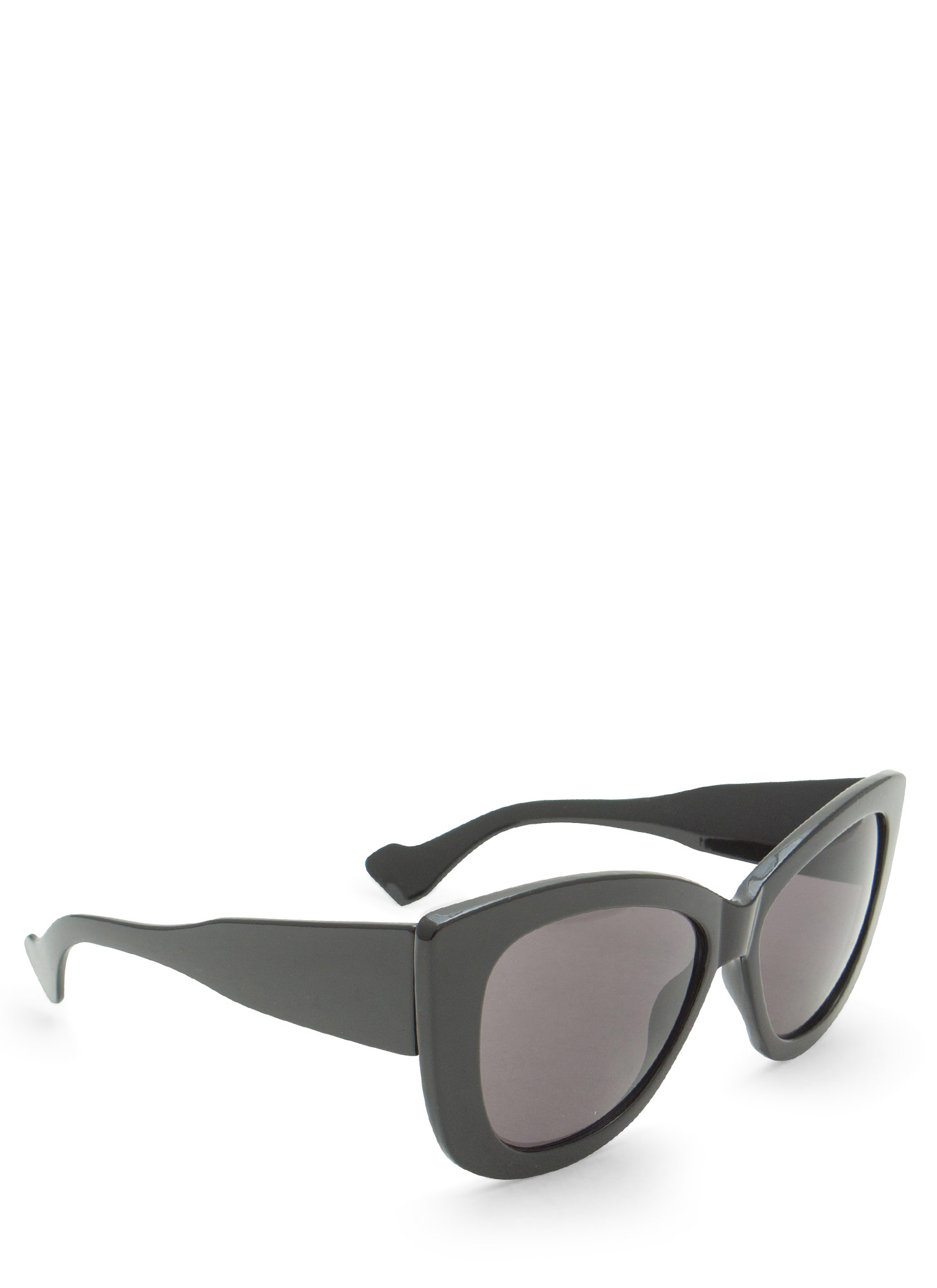 Thick Cat Eye Sunglasses BLACK