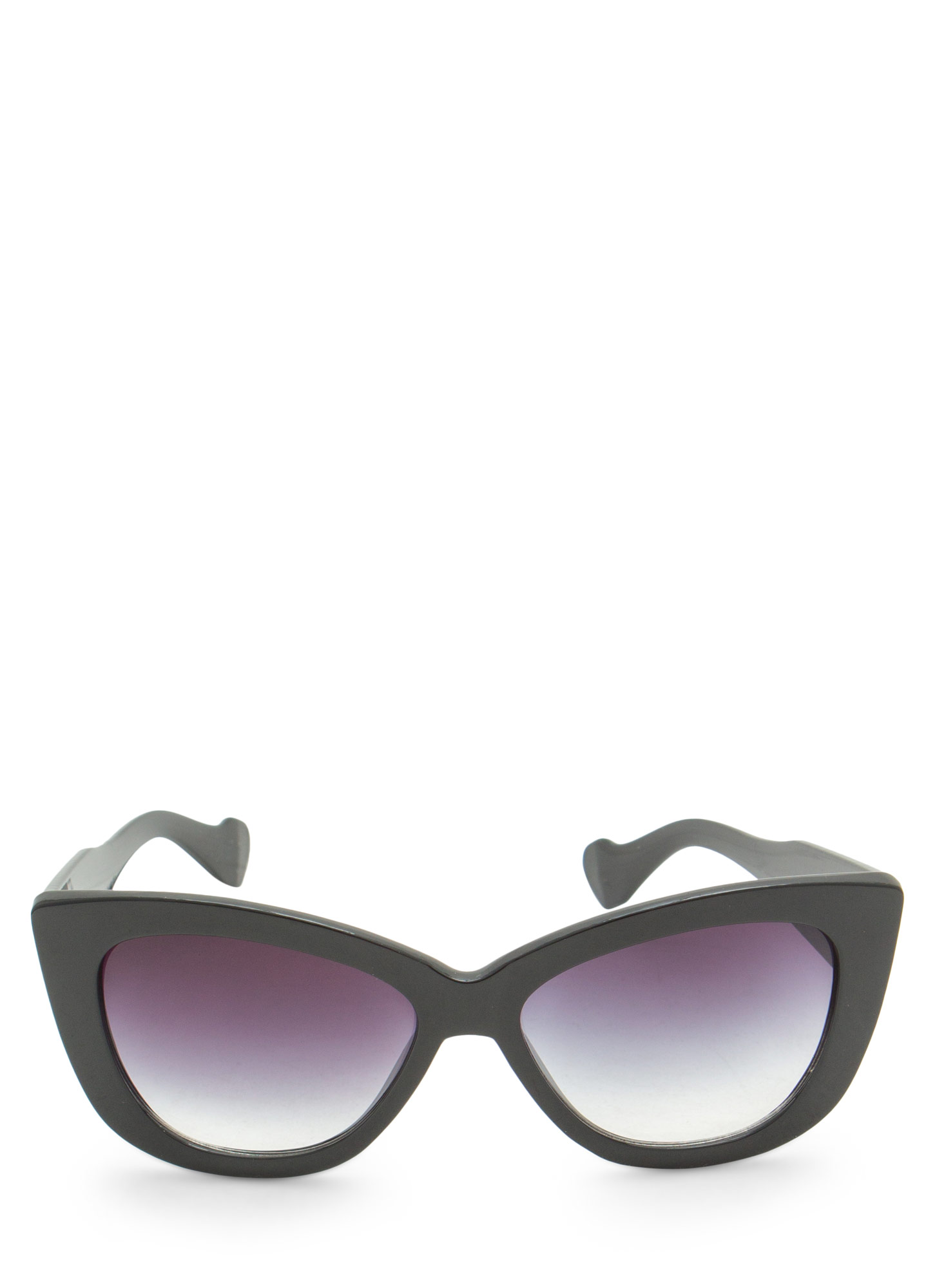 Thick Cat Eye Sunglasses BLACKCLEAR