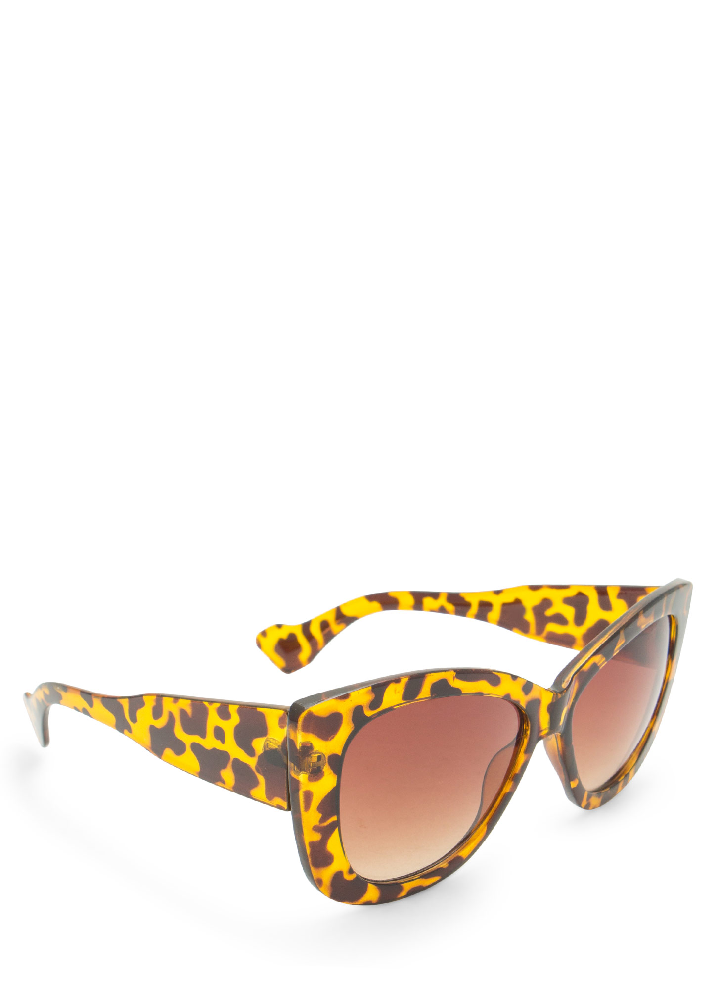 Thick Cat Eye Sunglasses TORTBROWN