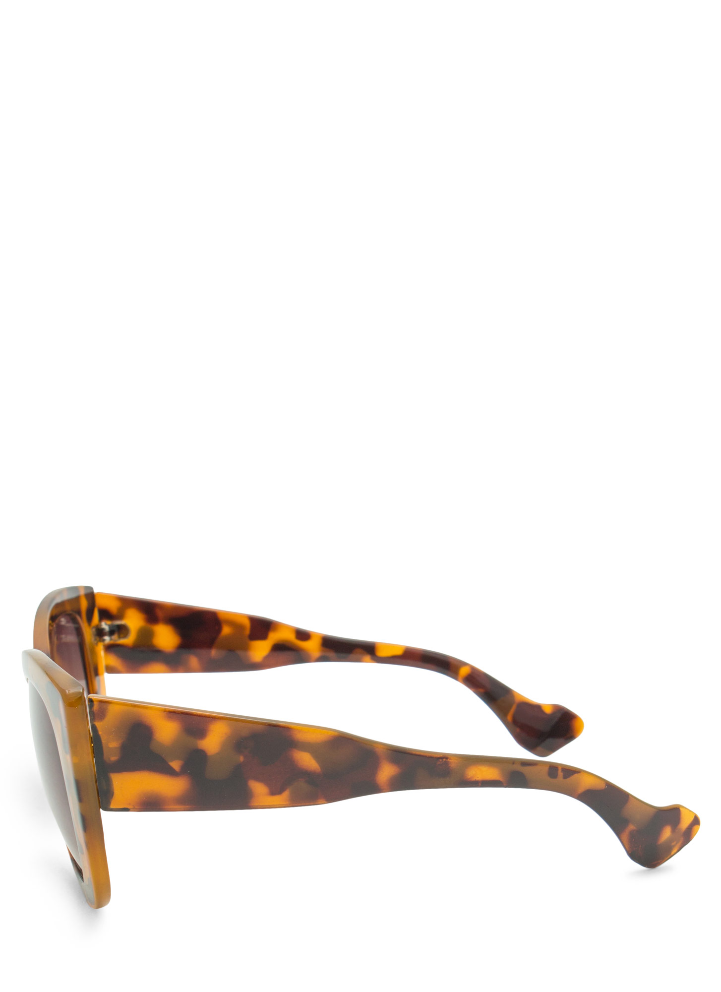 Thick Cat Eye Sunglasses TORTOLIVE