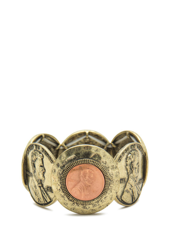 Penny 4 A Thought Coin Bracelet DKGOLD