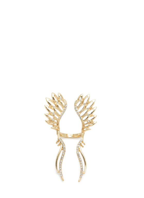 Cut-Out Wing Floating Ring GOLDCLEAR