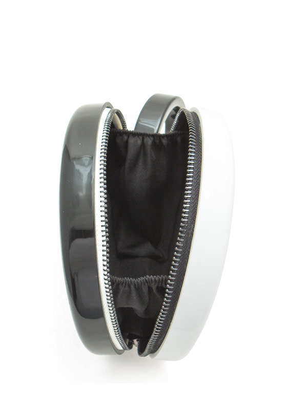 Two Tone Round Resin Clutch BLACKWHITE (Final Sale)