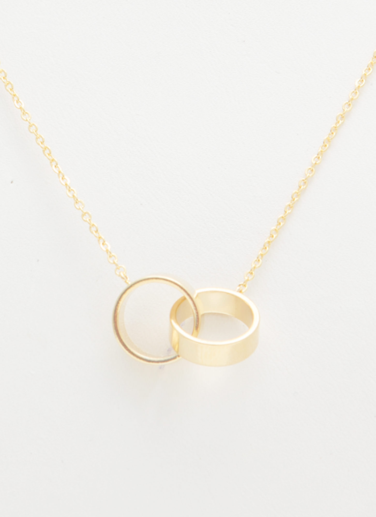 Double Linked Rings Necklace GOLD