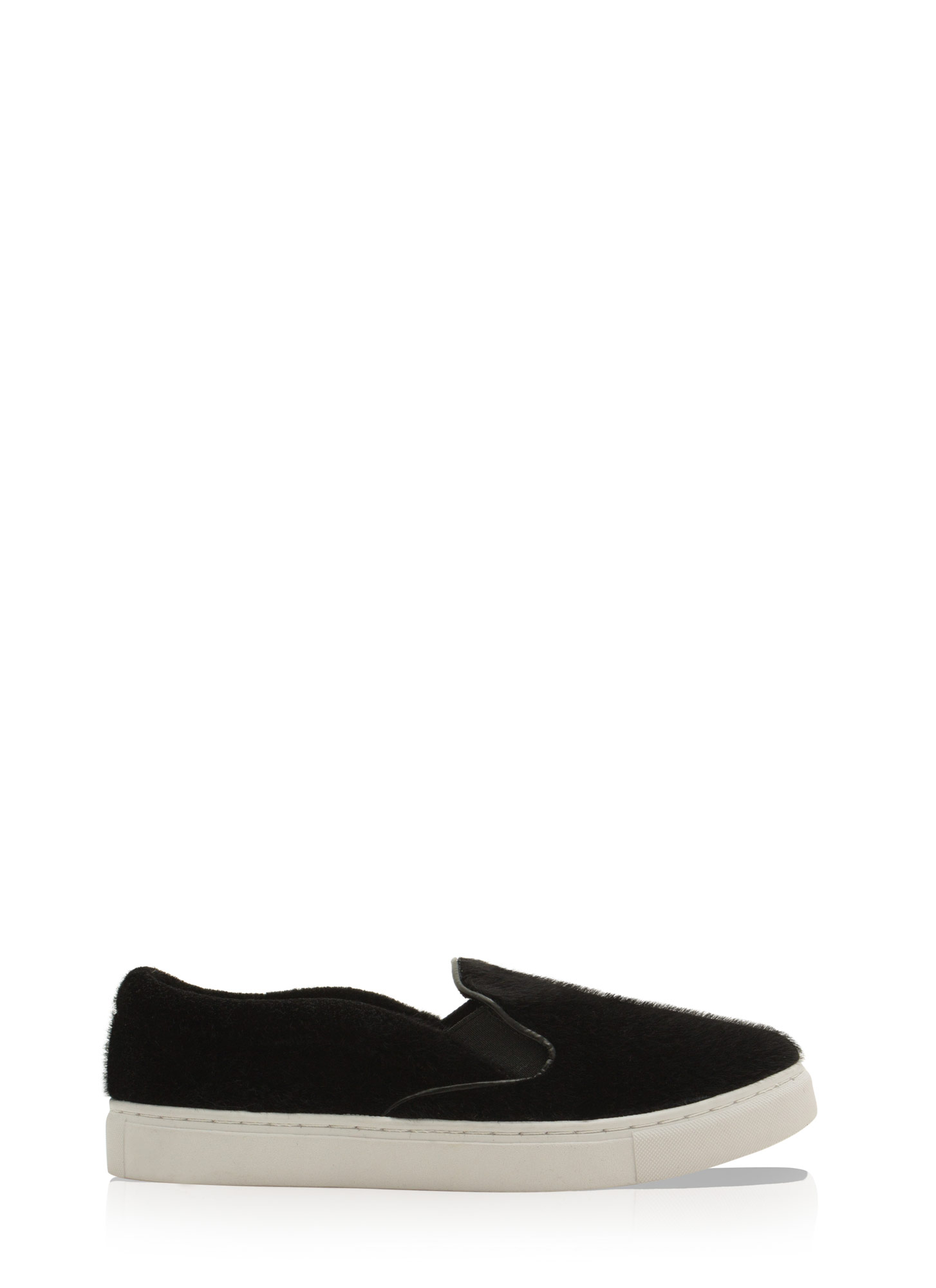 The Fuzz Slip-On Sneakers BLACK
