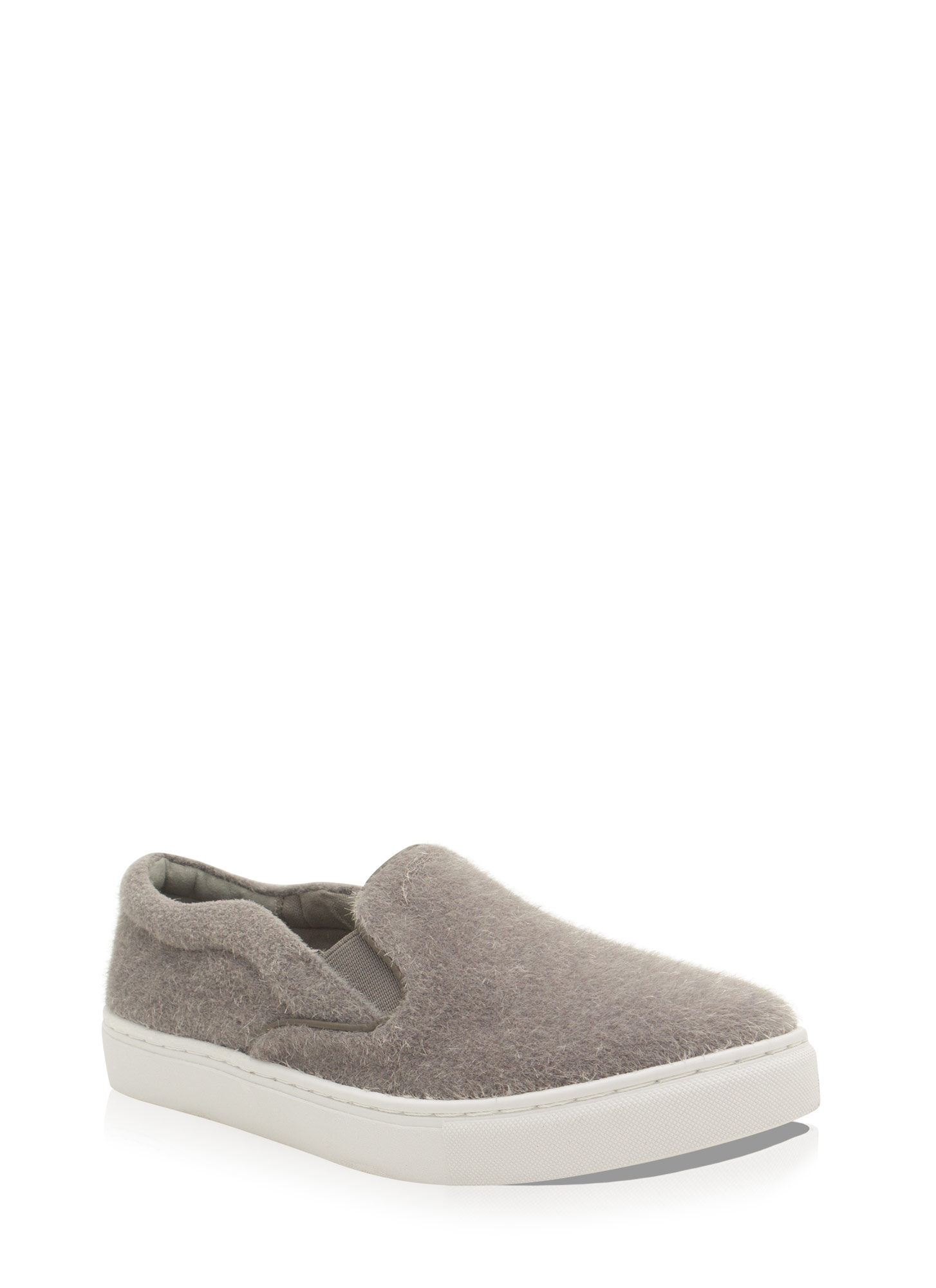 The Fuzz Slip-On Sneakers GREY