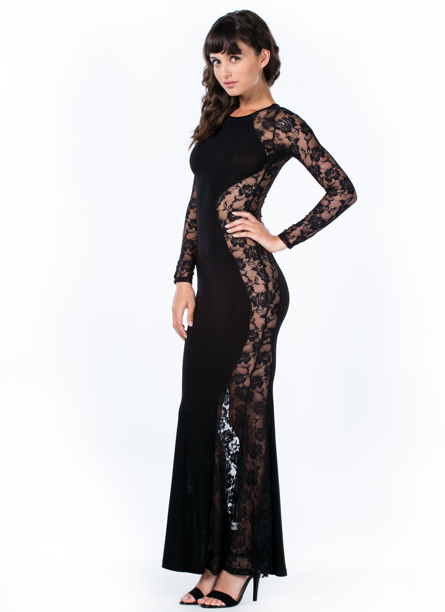 Rose To The Top Lace Mermaid Maxi BLACK