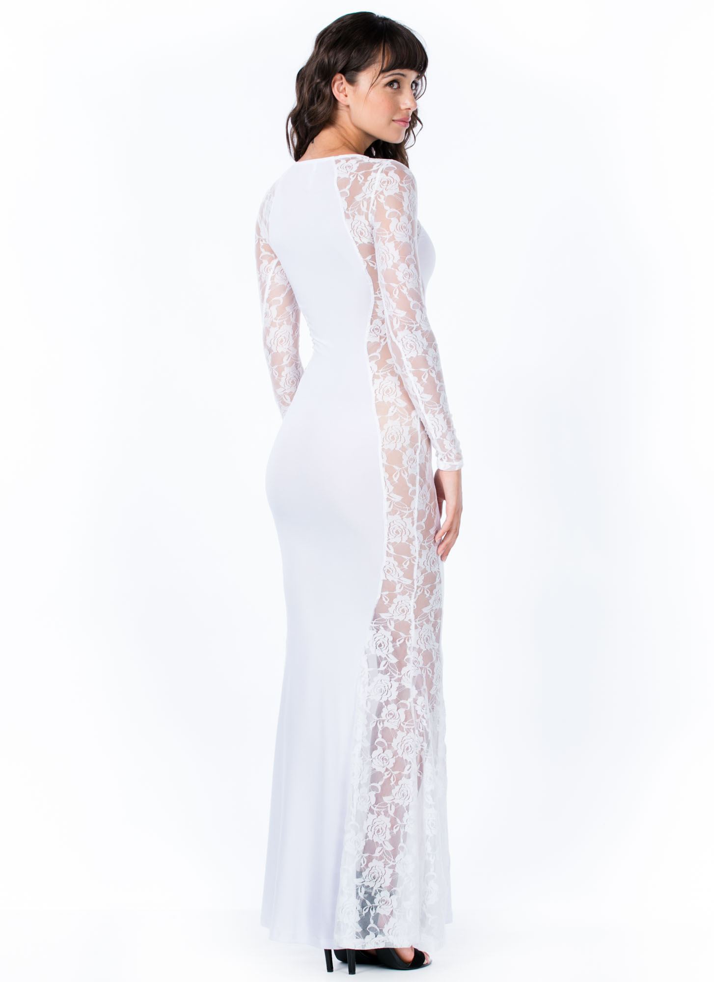 Rose To The Top Lace Mermaid Maxi WHITE