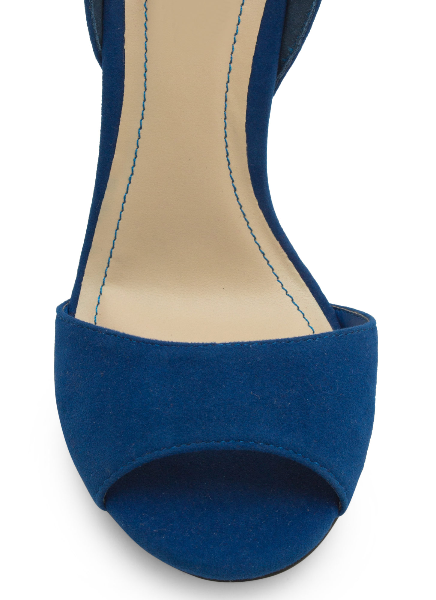 Twist Lock Me Up Ankle Strap Heels BLUE