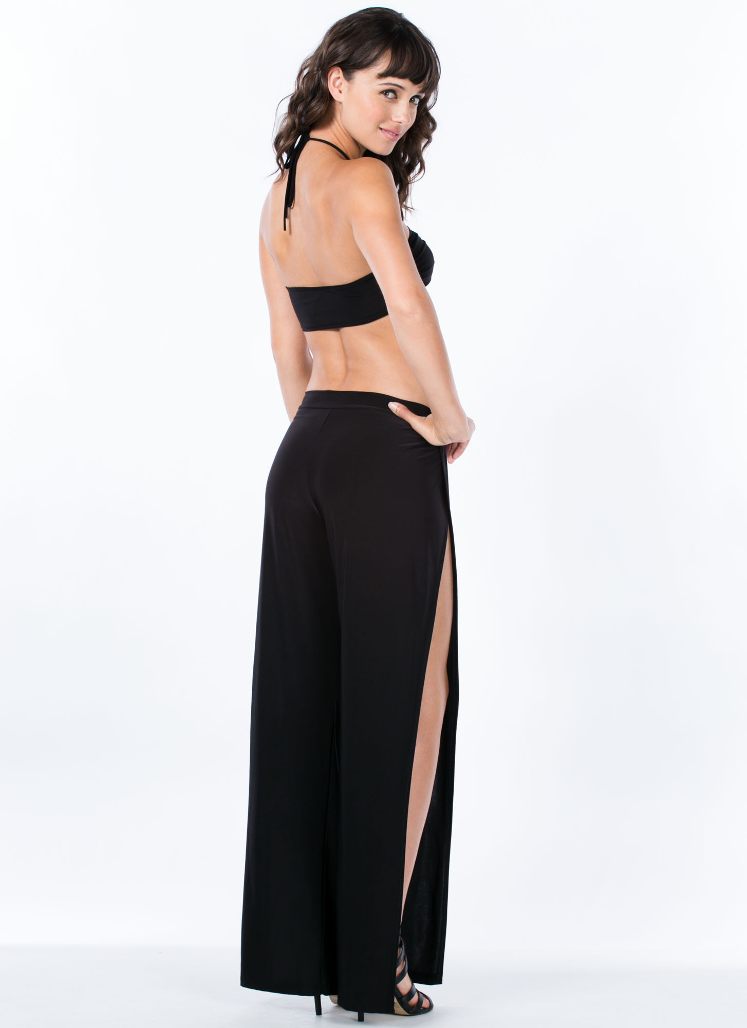 Winner's Circle Halter Jumpsuit BLACK