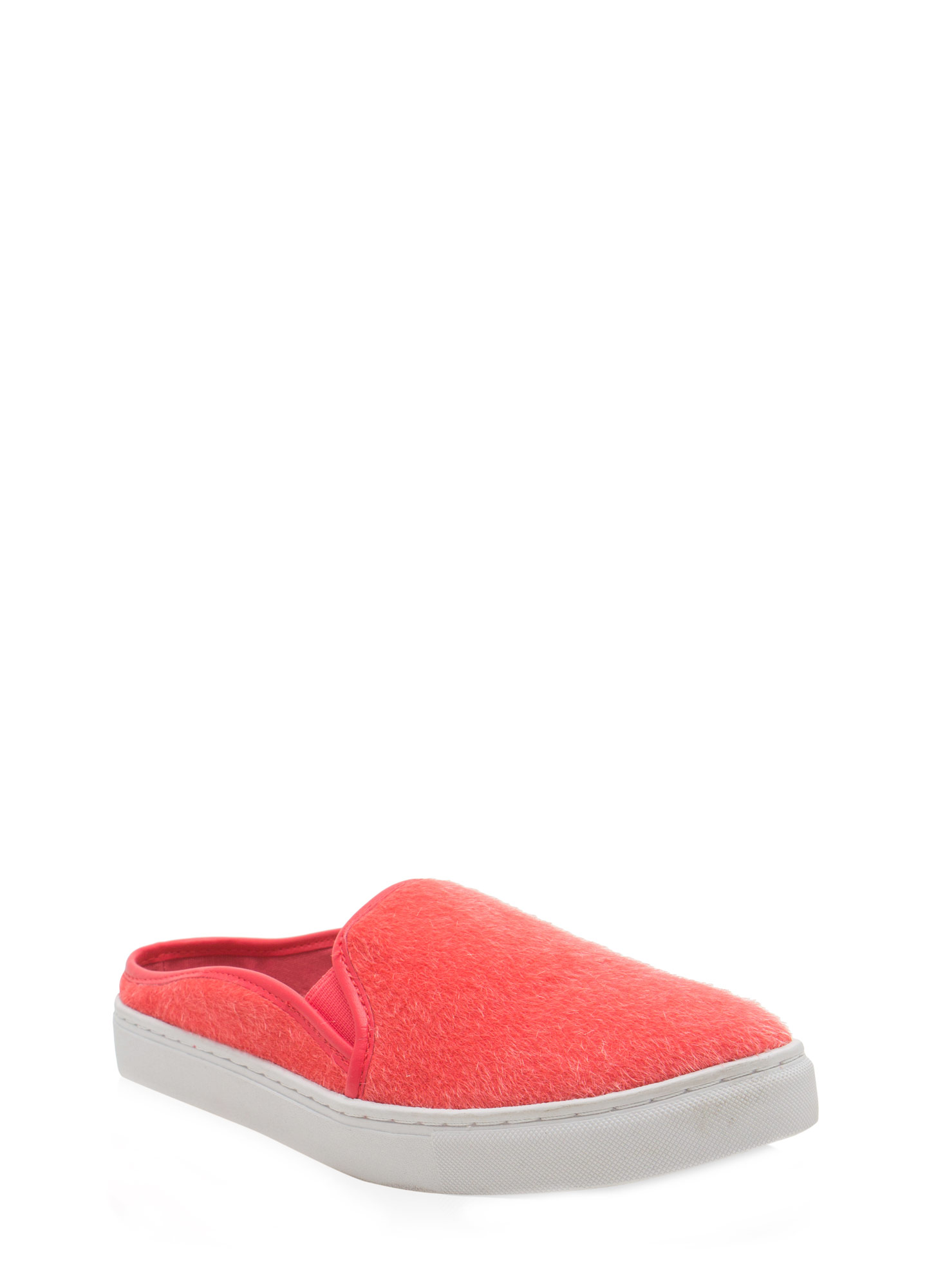 The Fuzz Slide Sneakers SALMON