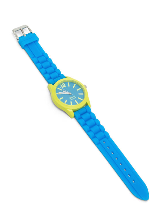 Two-Tone Silicone Watch BLUE
