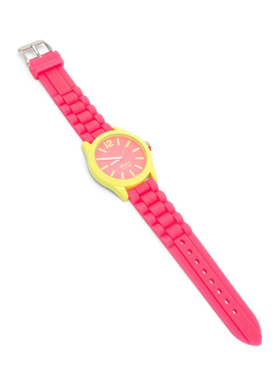 Two-Tone Silicone Watch CORAL