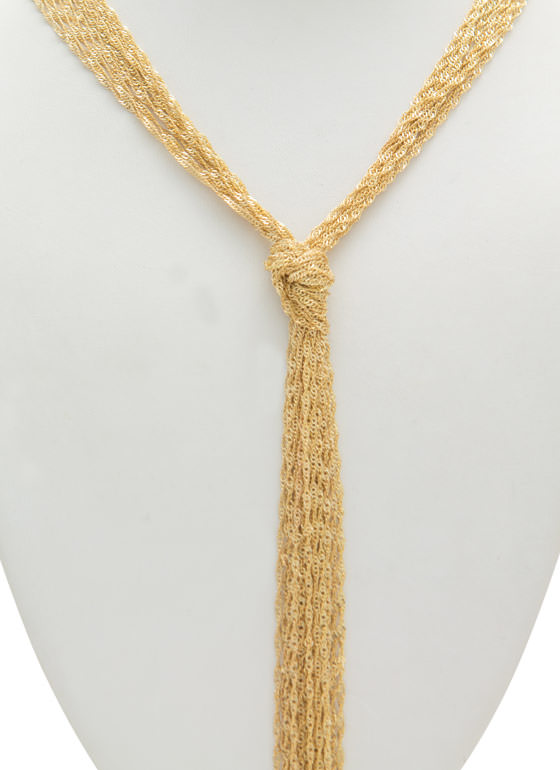 Rope Tassel Necklace GOLD