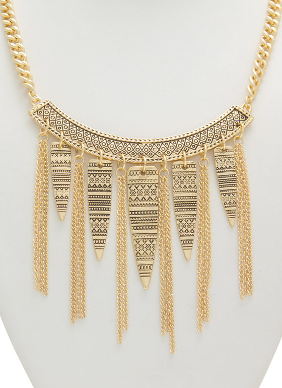 Etched Tribe Vibes Necklace DKGOLD