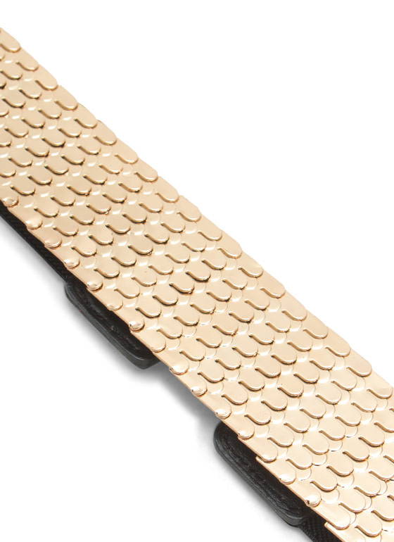 Plated Scales Belt GOLDBLACK
