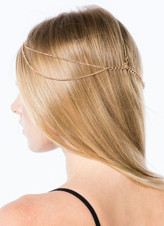 Dainty Layered Head Chain GOLD