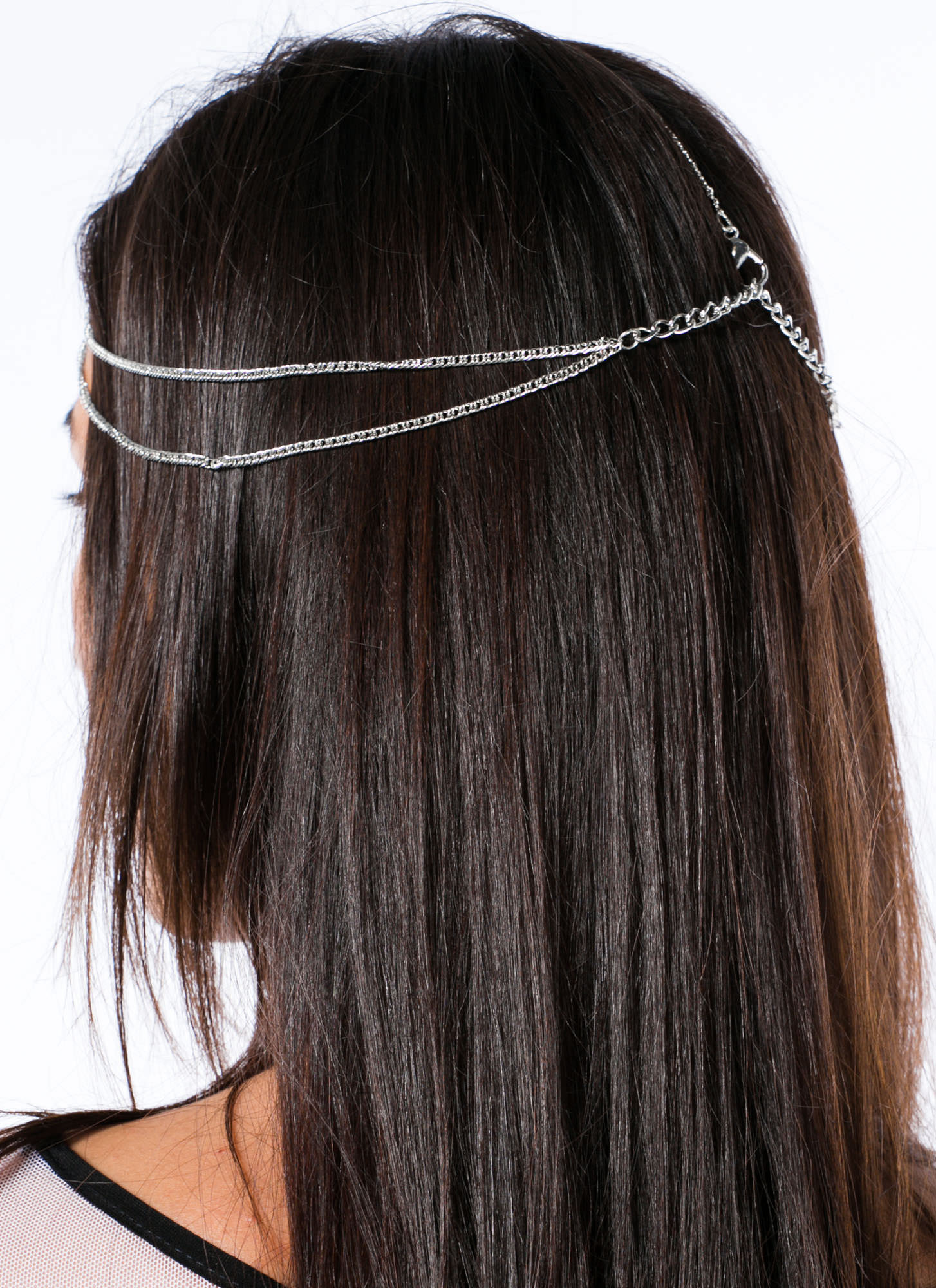 Dainty Layered Head Chain SILVER
