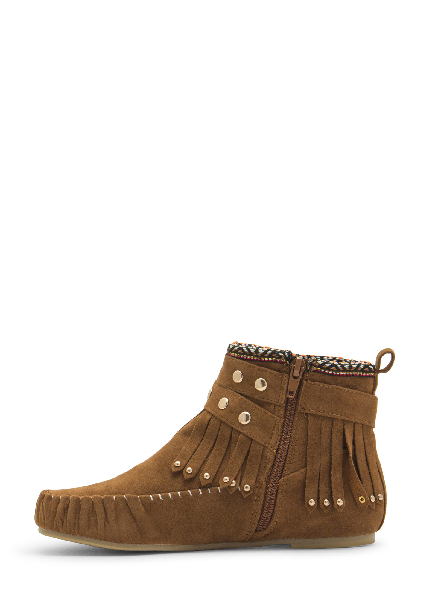 Tribal Talk Moccasin Booties WHISKY