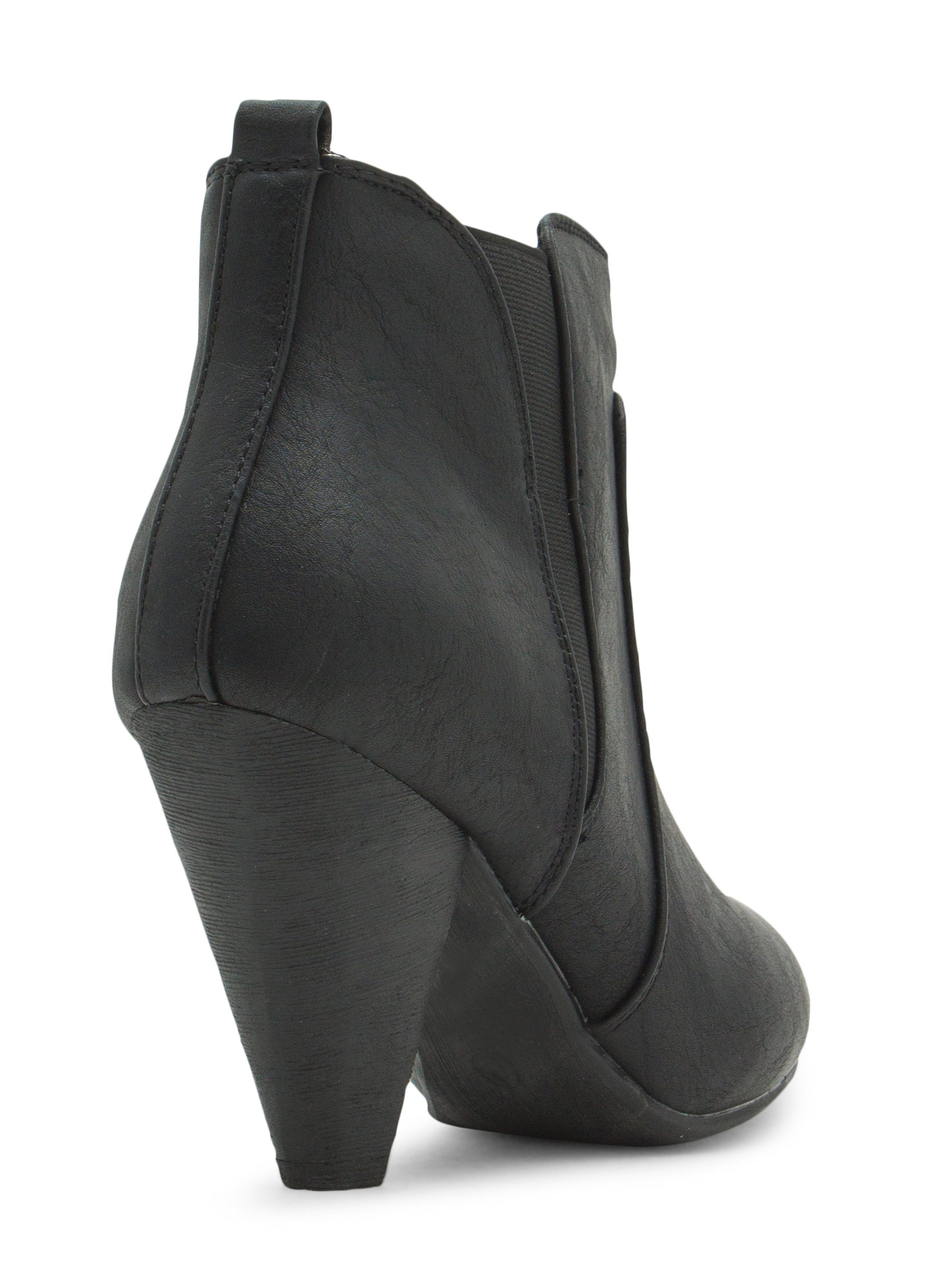 Special Delivery Faux Leather Booties BLACK
