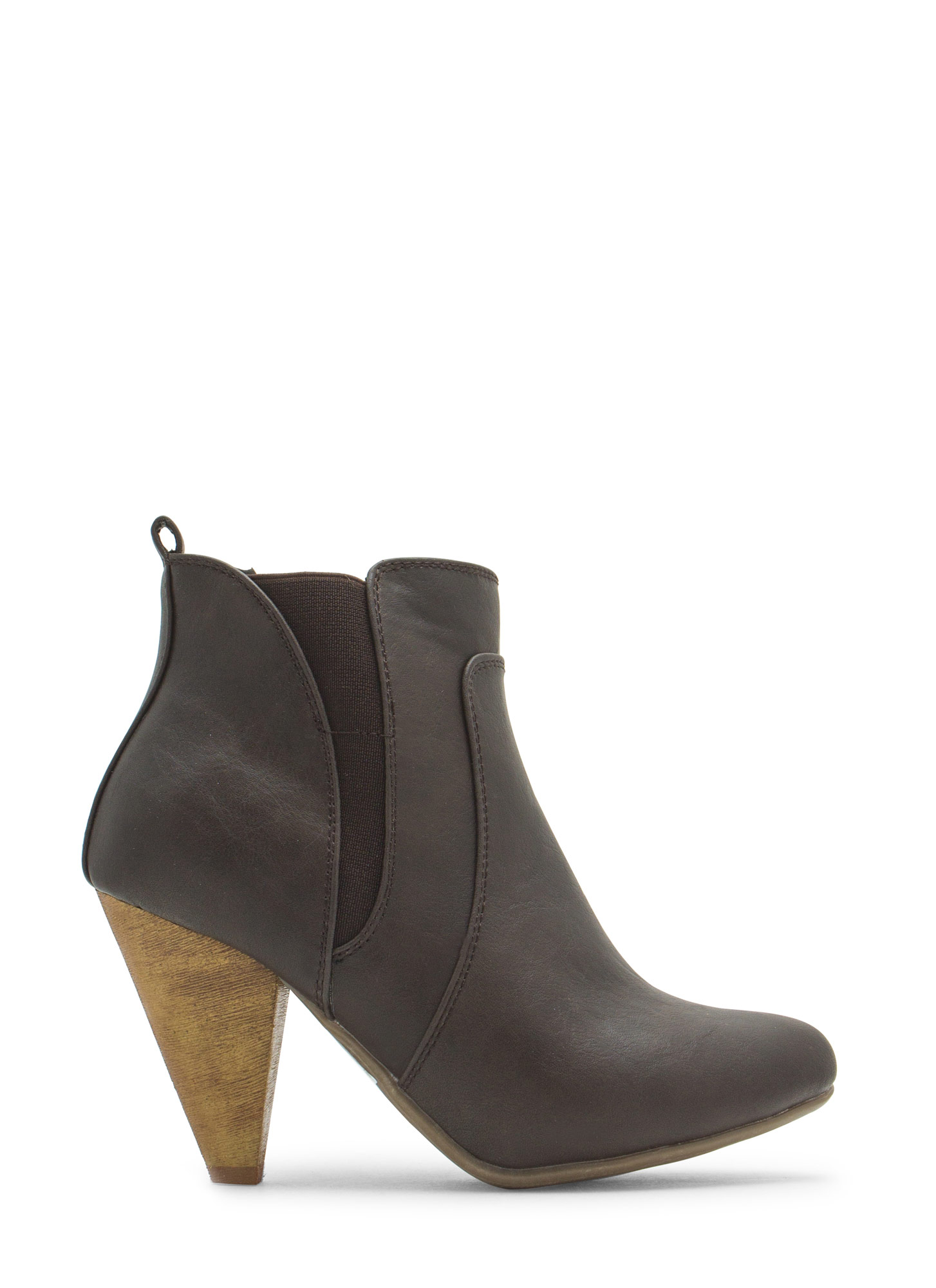 Special Delivery Faux Leather Booties BROWN
