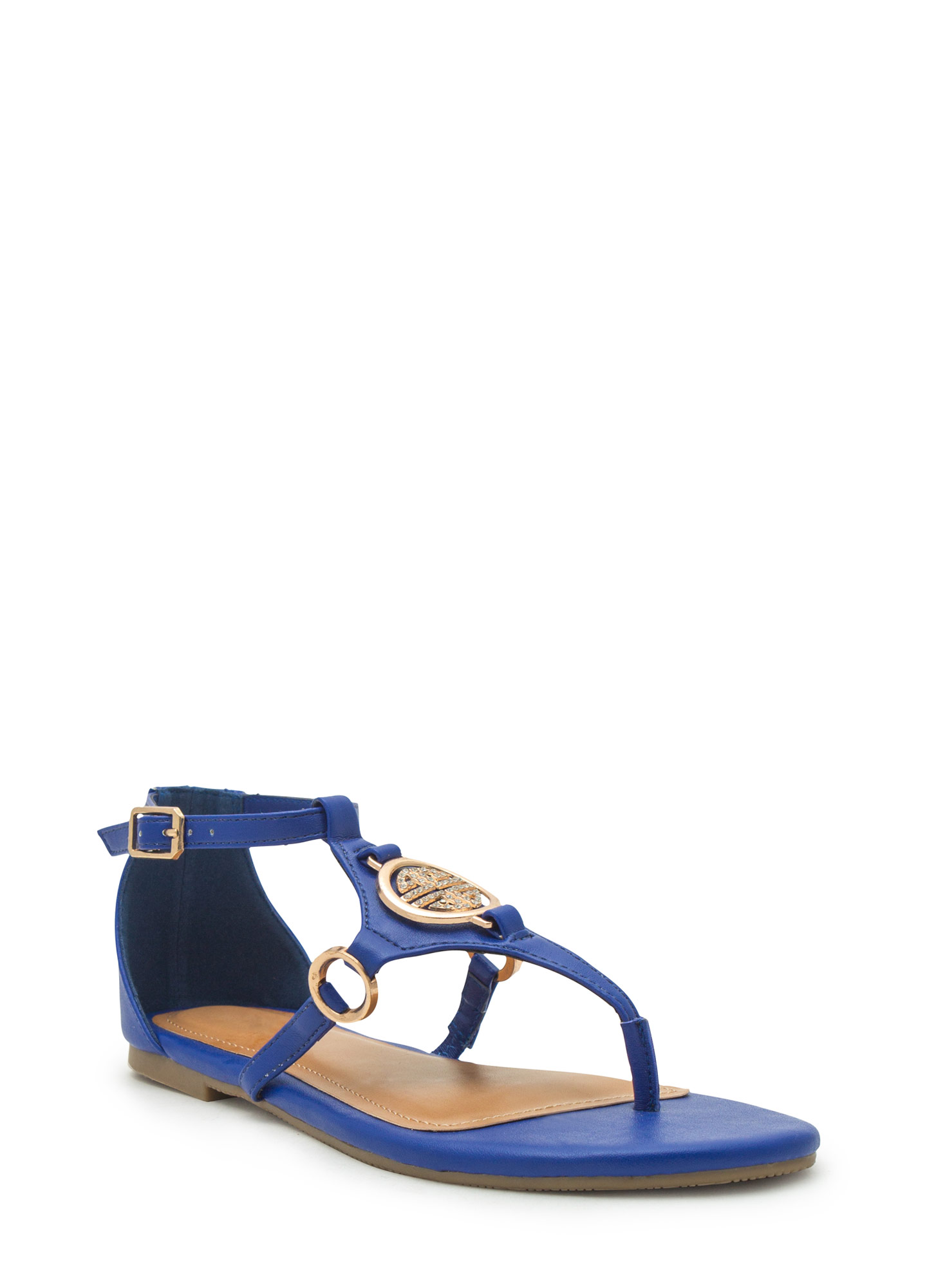 Medal Contender Strappy Ring Sandals COBALT