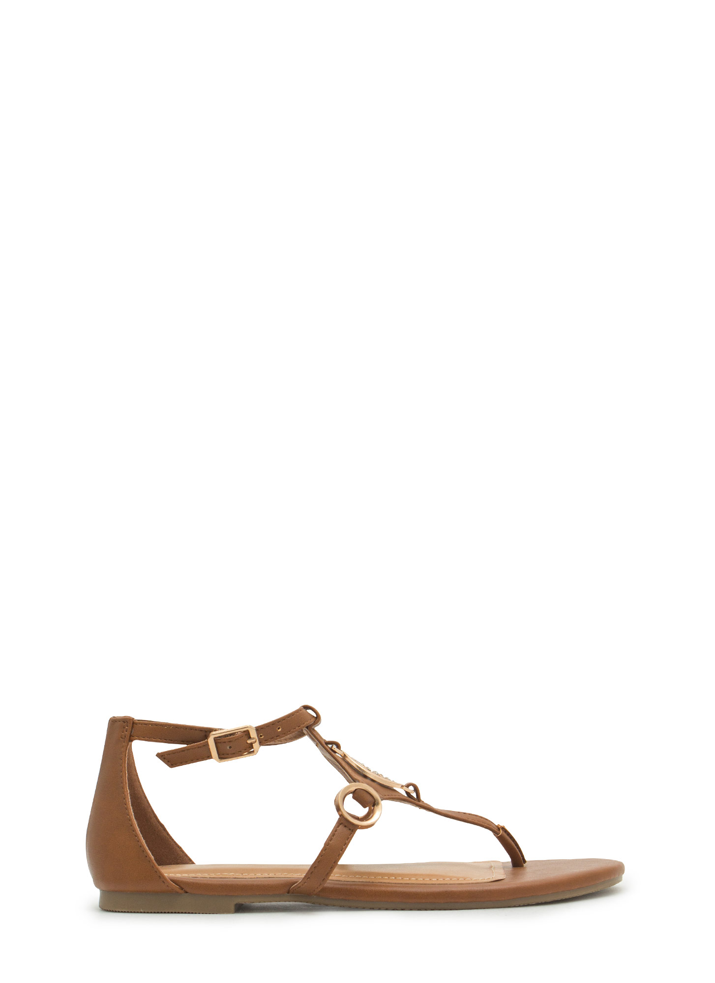 Medal Contender Strappy Ring Sandals TAN