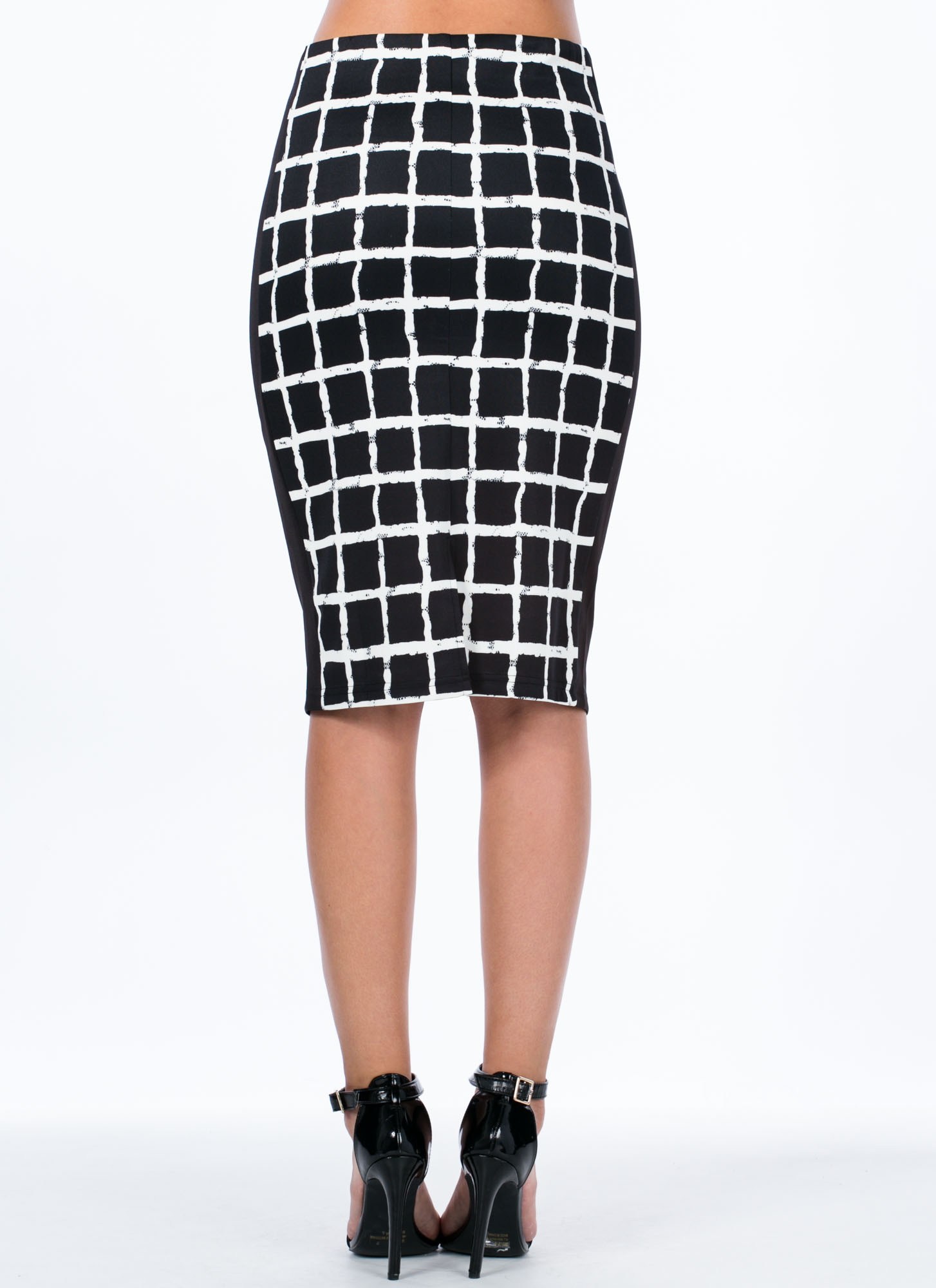 Power Grid Slit Skirt WHITE