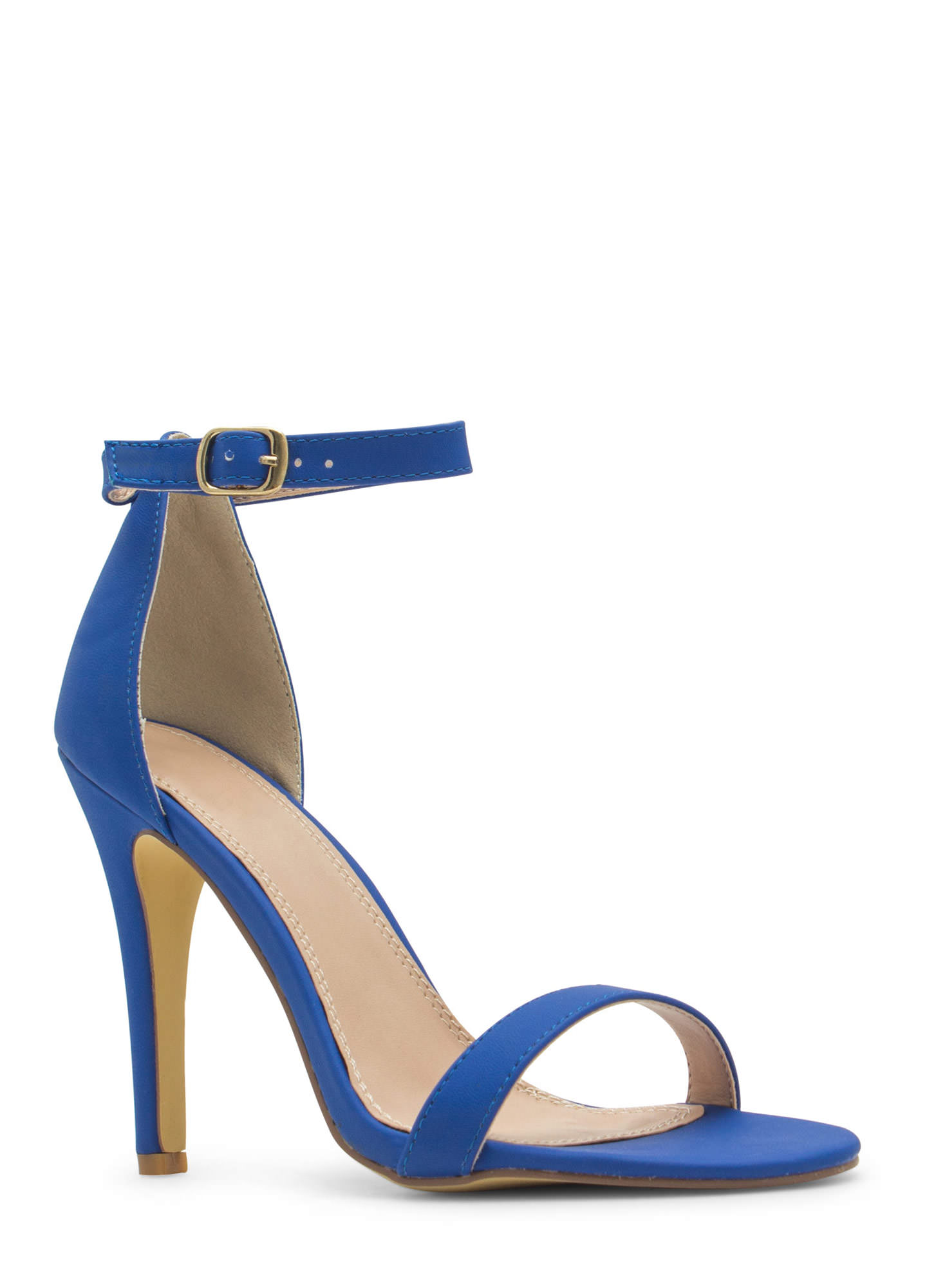 Less Is More Single-Strap Heels BLUE