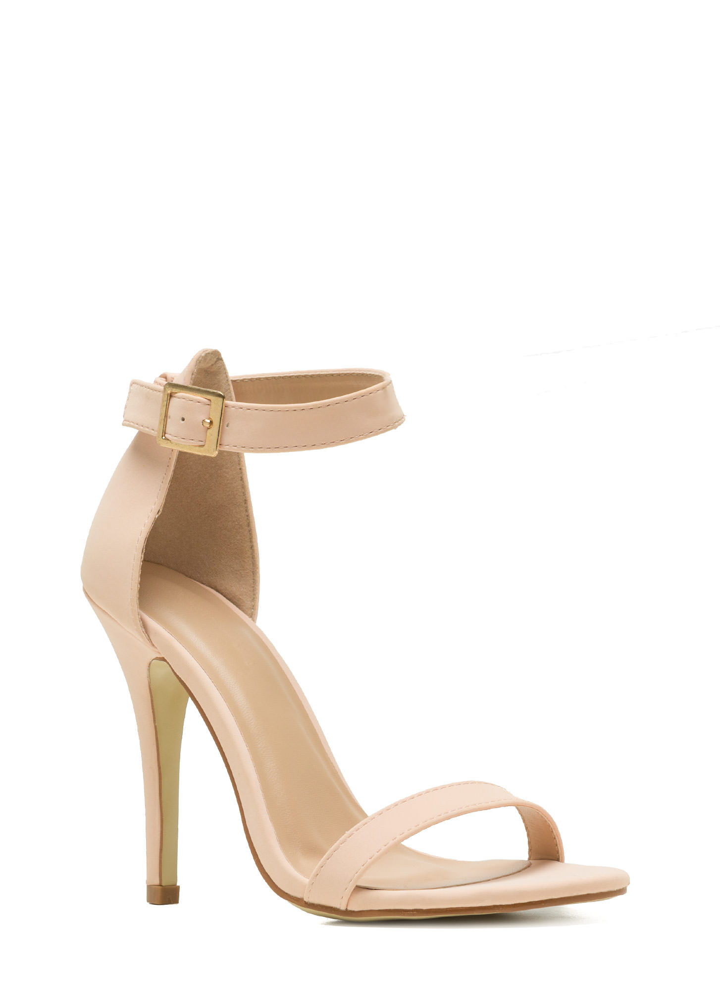 Less Is More Single-Strap Heels BLUSH