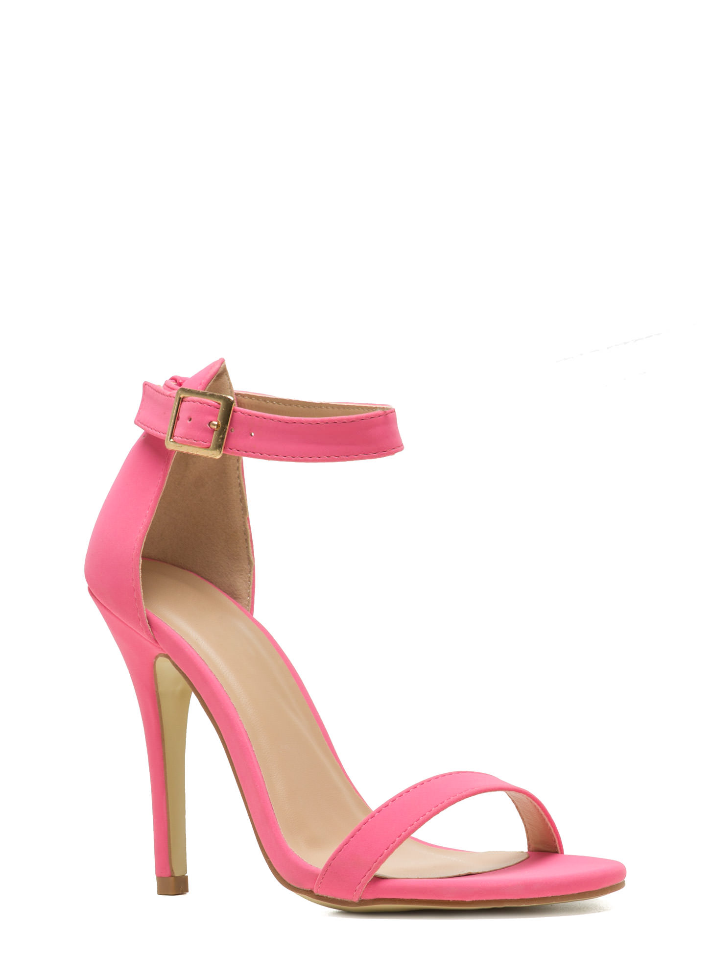 Less Is More Single-Strap Heels BUBBLEGUM