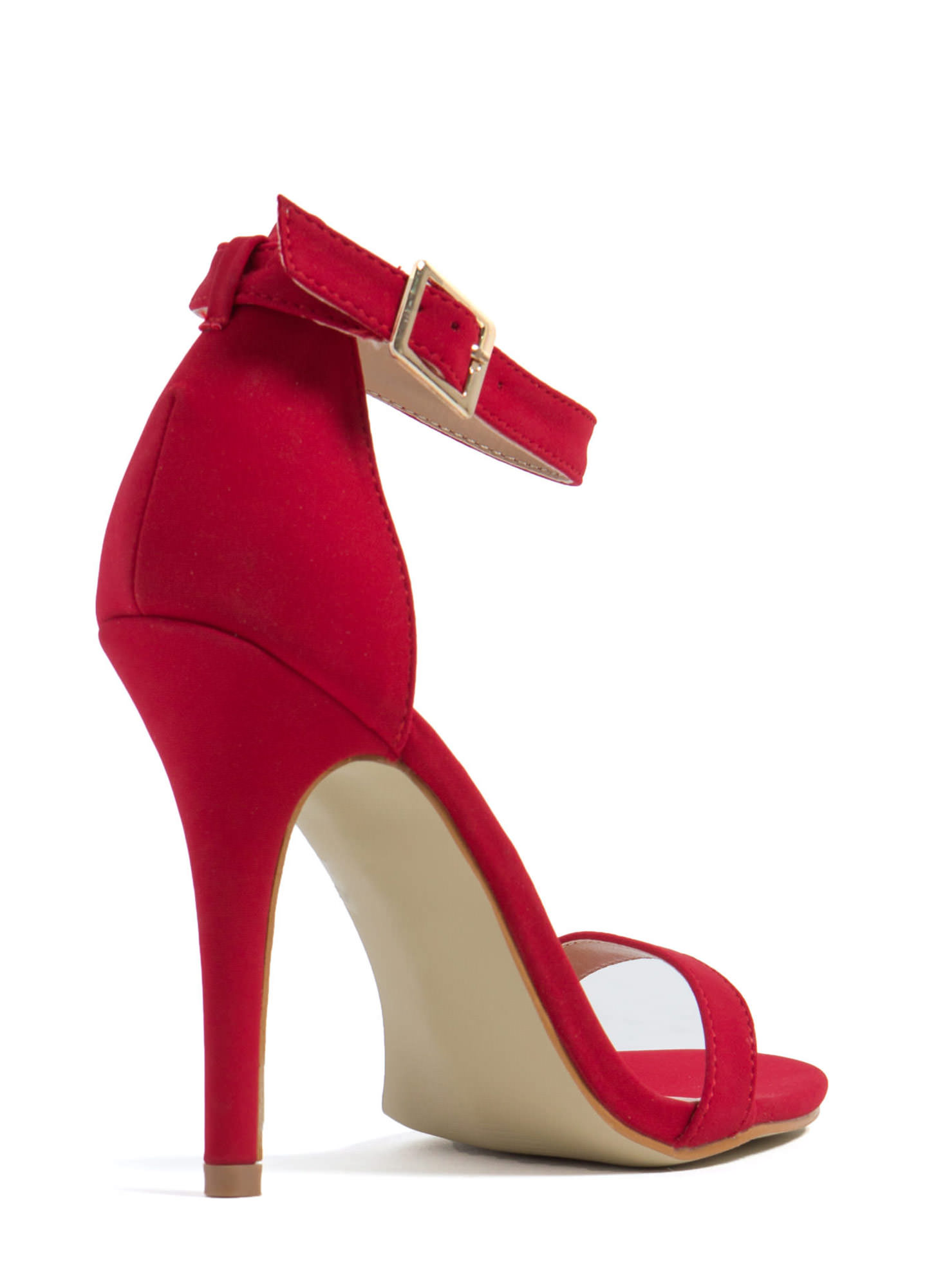 Less Is More Single-Strap Heels CRANBERRY