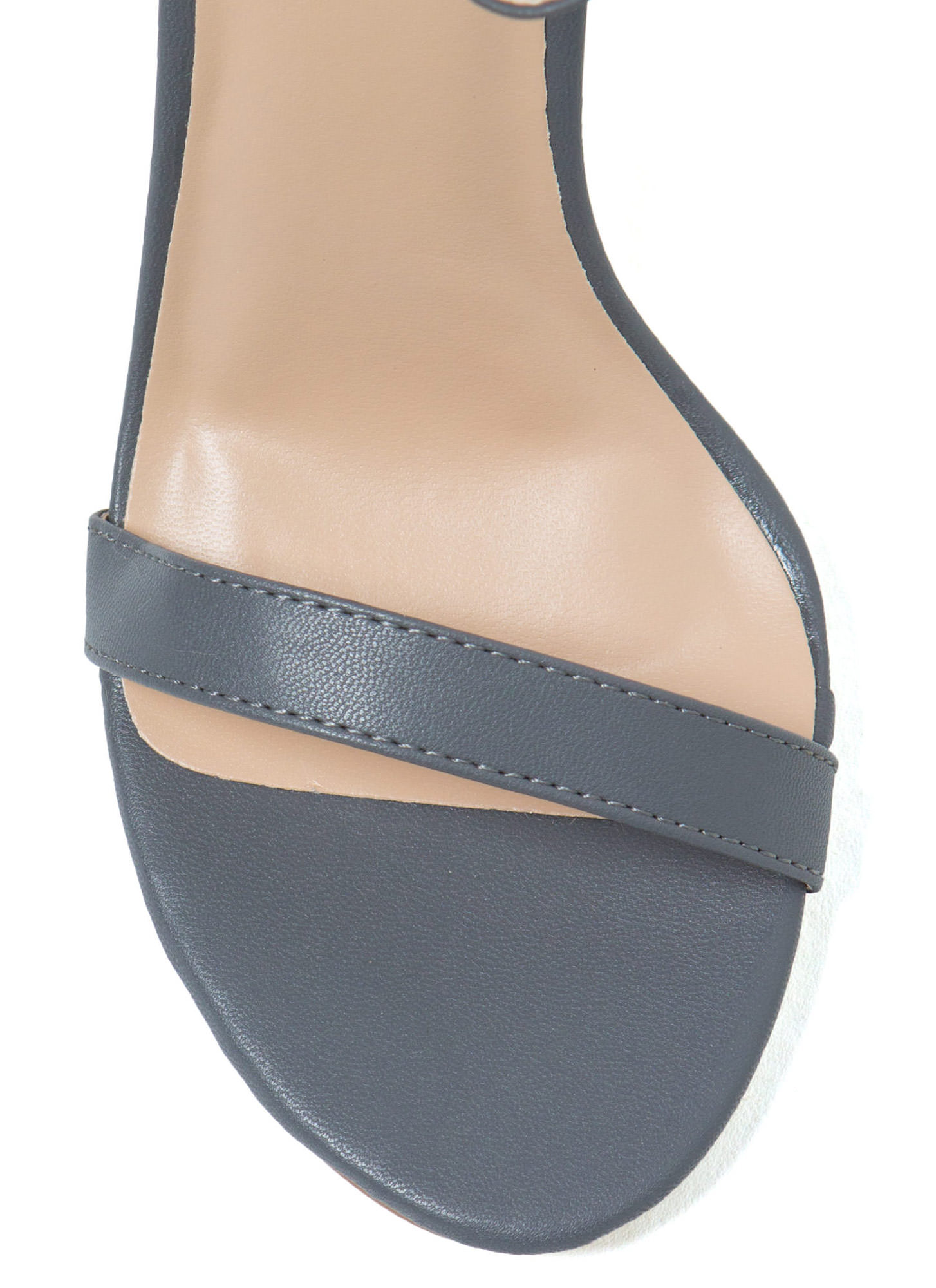 Less Is More Single-Strap Heels DKGREY