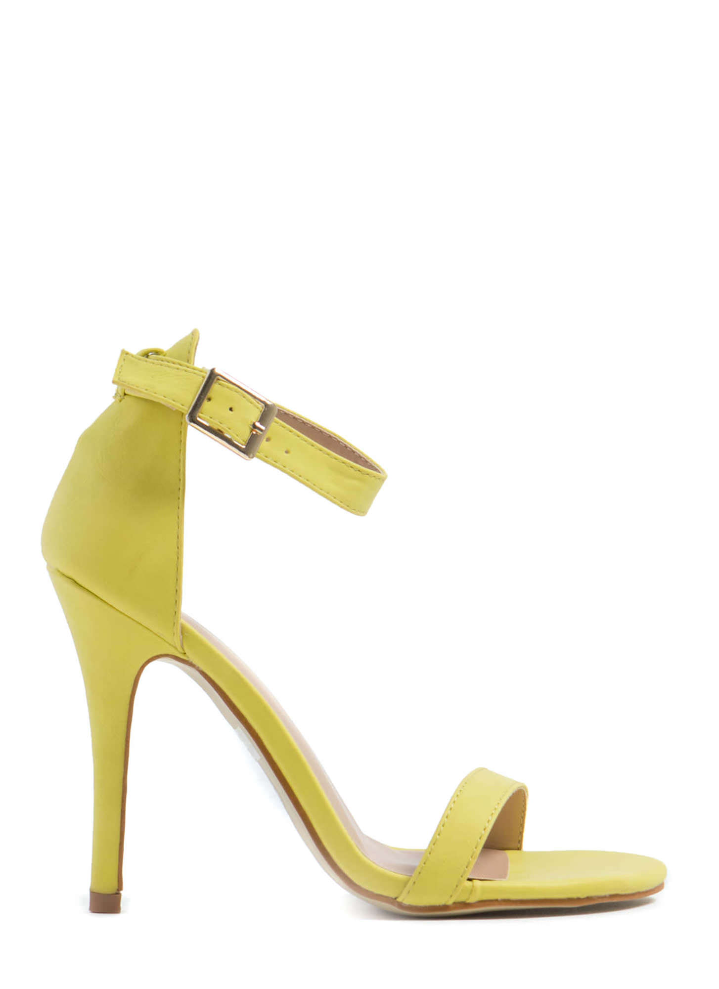 Less Is More Single-Strap Heels LIME