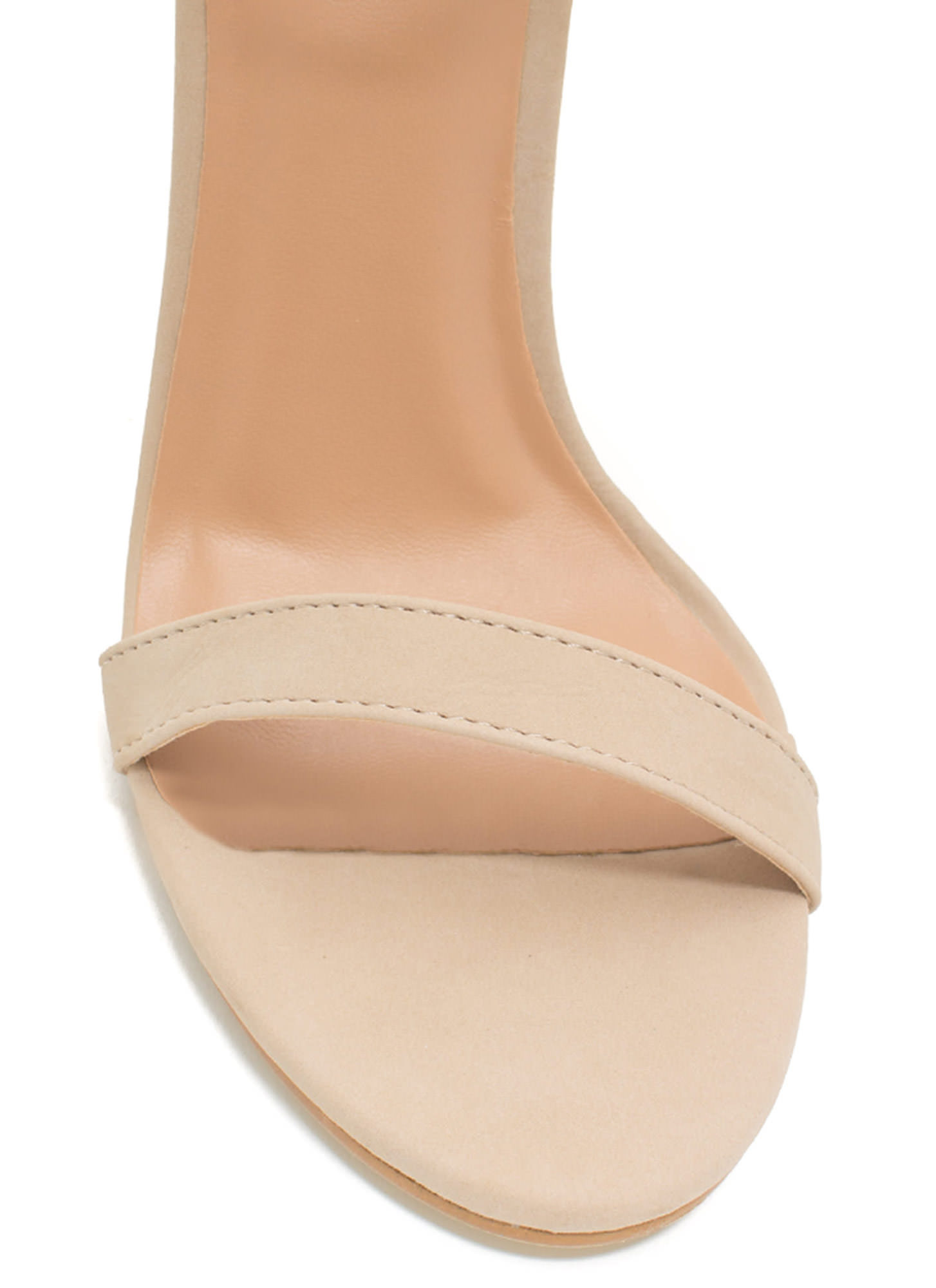Less Is More Single-Strap Heels NUDE