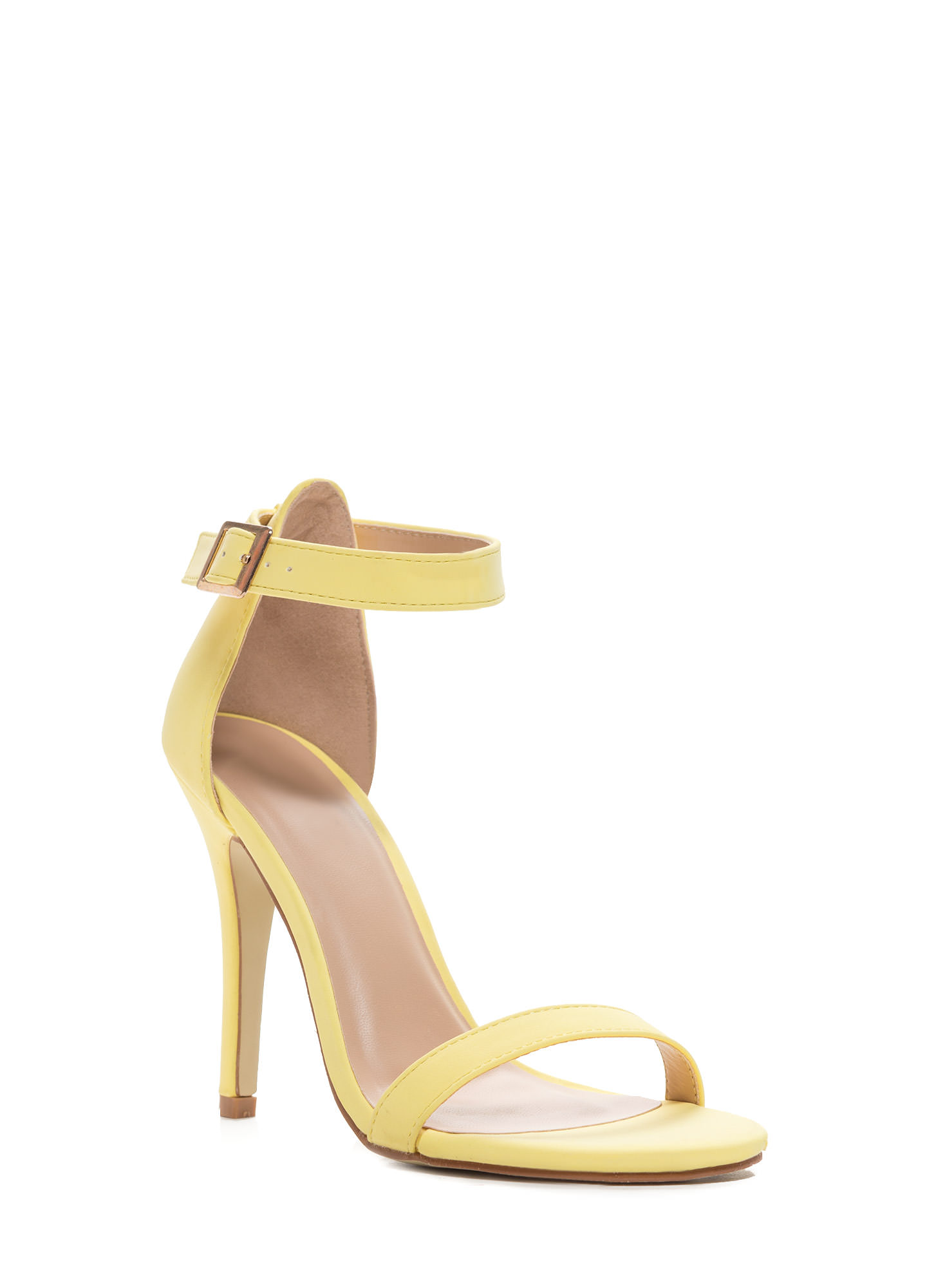 Less Is More Single-Strap Heels YELLOW
