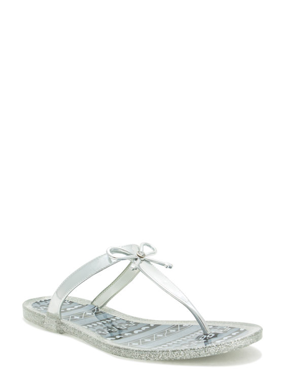 Bow Down Thong Sandals BLACK