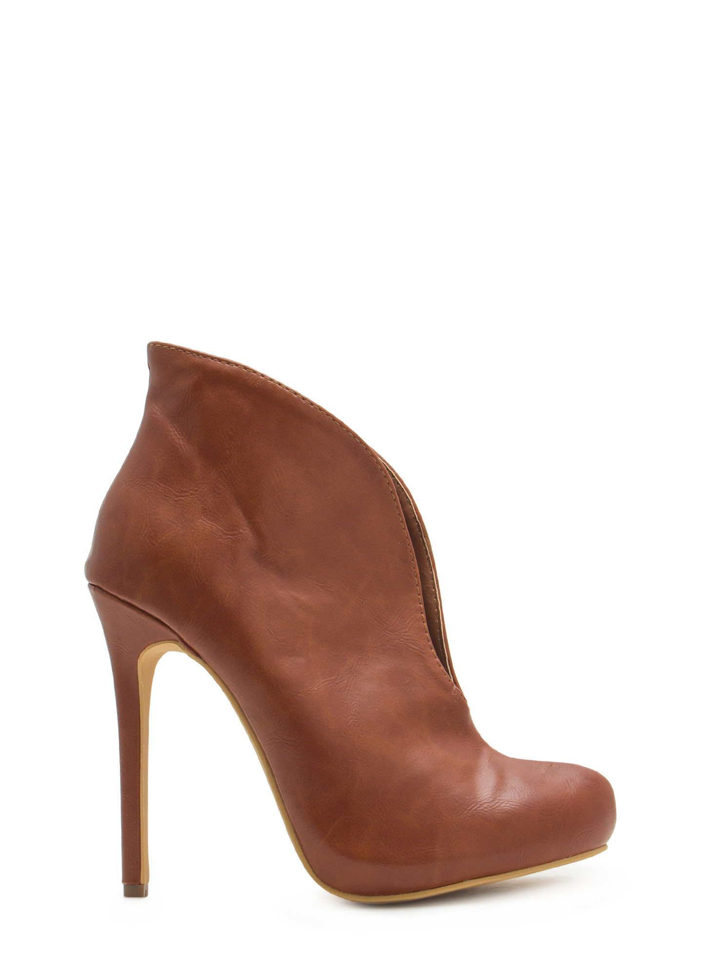 Take The Plunge Booties TAN