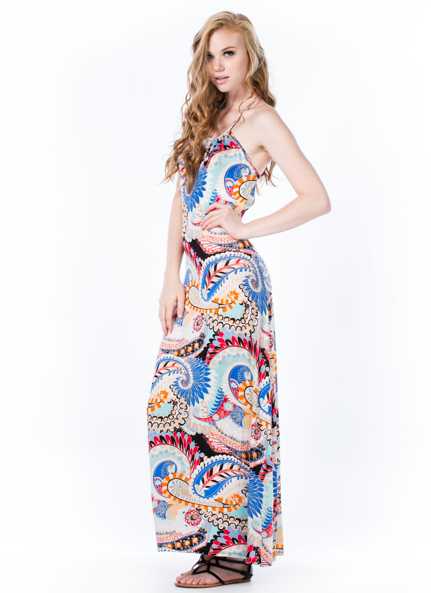 Paisley Parade Strappy Print Maxi MULTI (Final Sale)